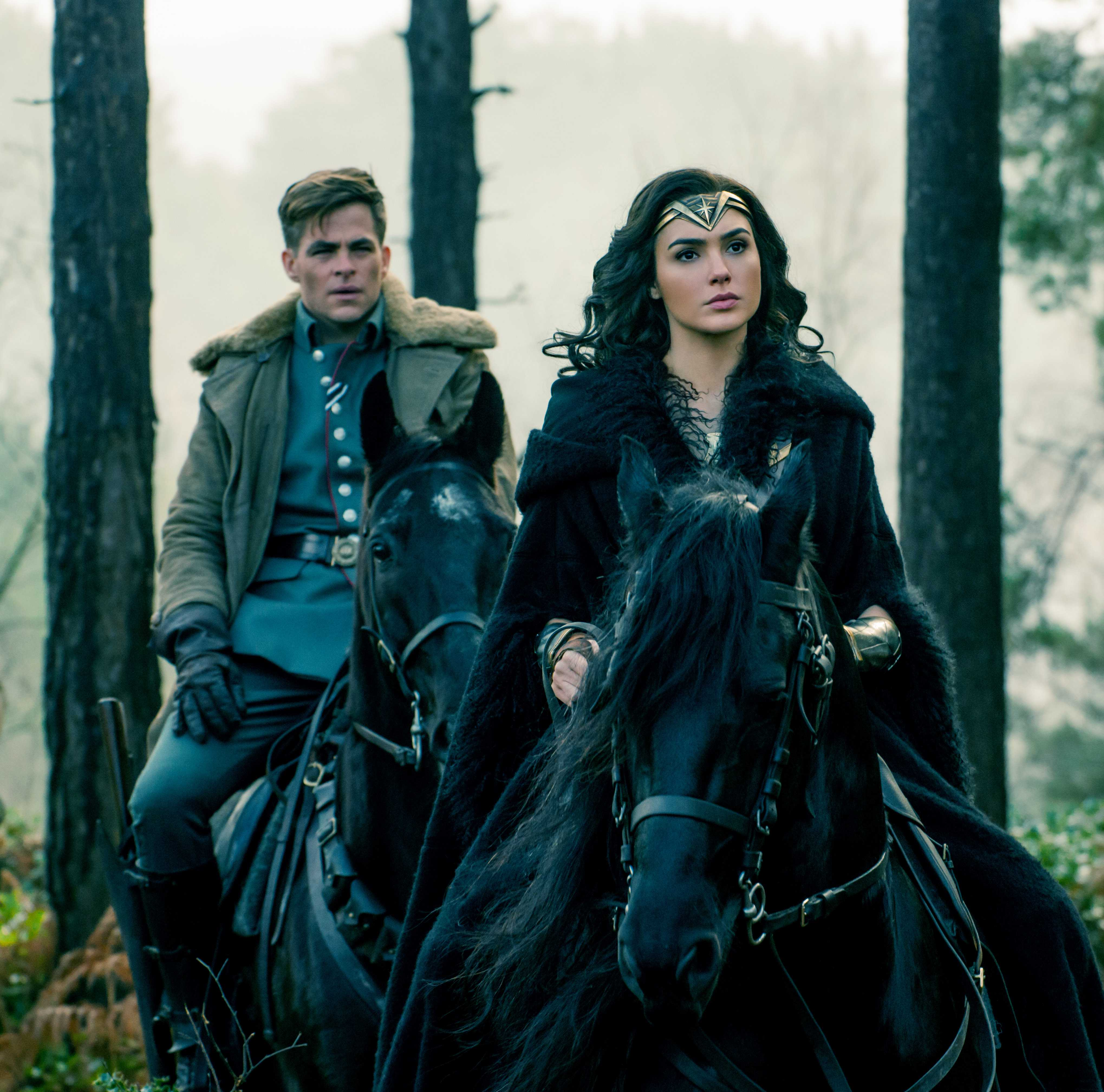 Chris Pine And Gal Gadot In Wonder Woman 2017 Hd Movies 4k Wallpapers Images Backgrounds Photos And Pictures