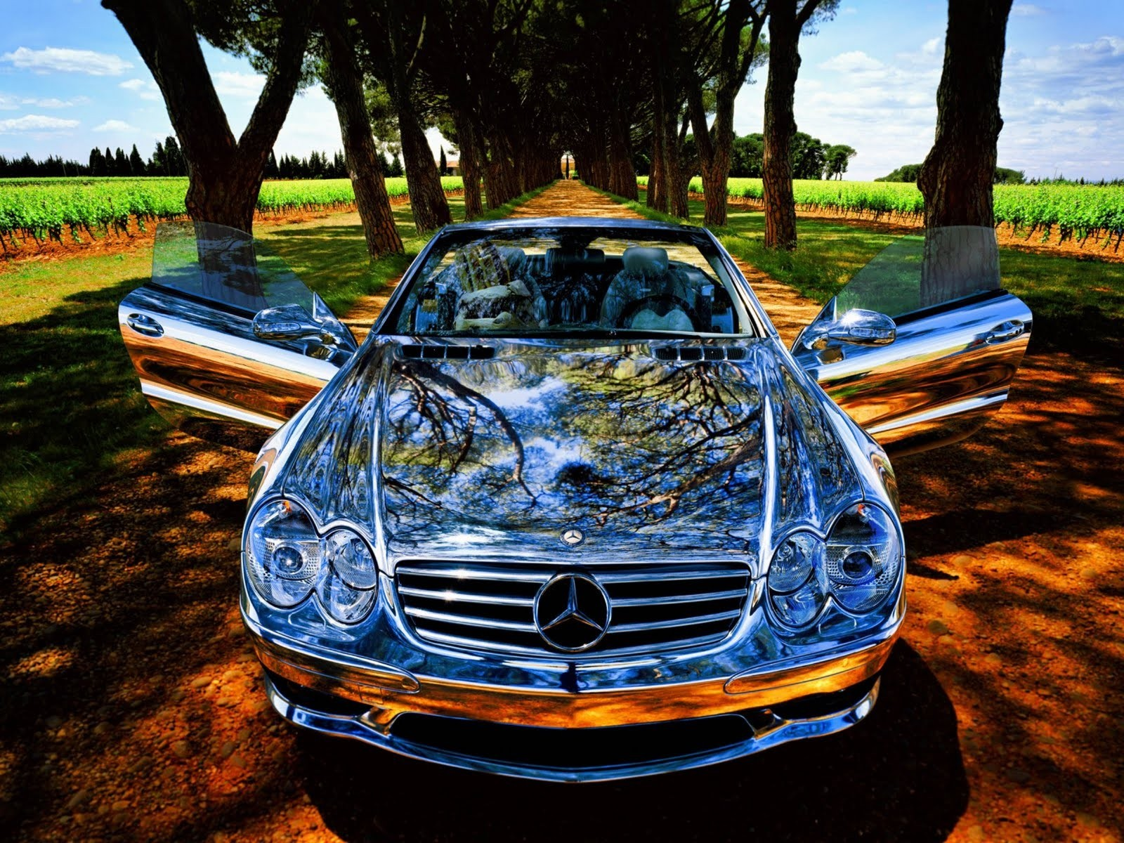 Chrome Mercedes Benz Hd Cars 4k Wallpapers Images Backgrounds Photos And Pictures