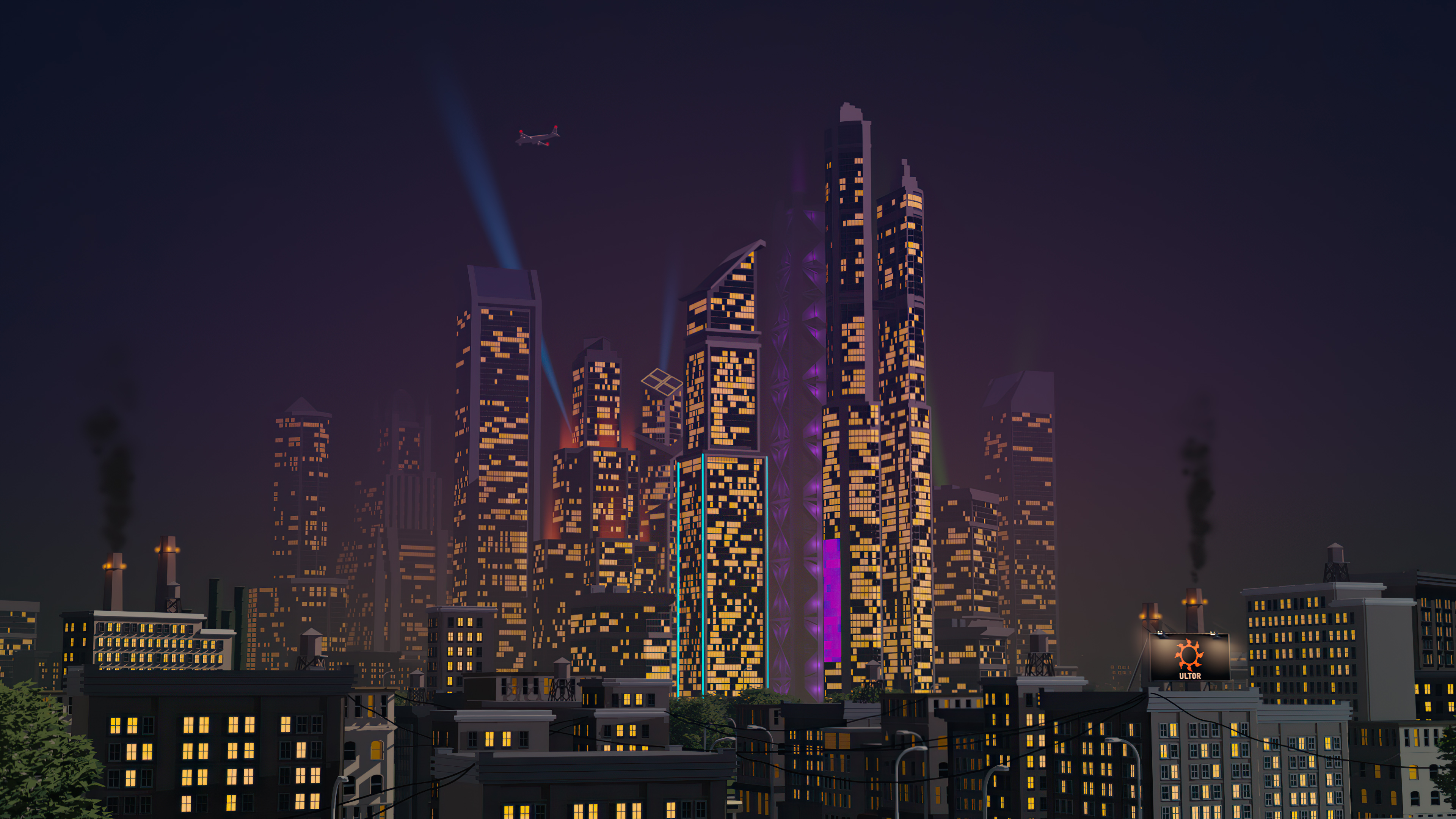 City Buildings Retrowave 4k Hd Artist 4k Wallpapers Images Backgrounds Photos And Pictures