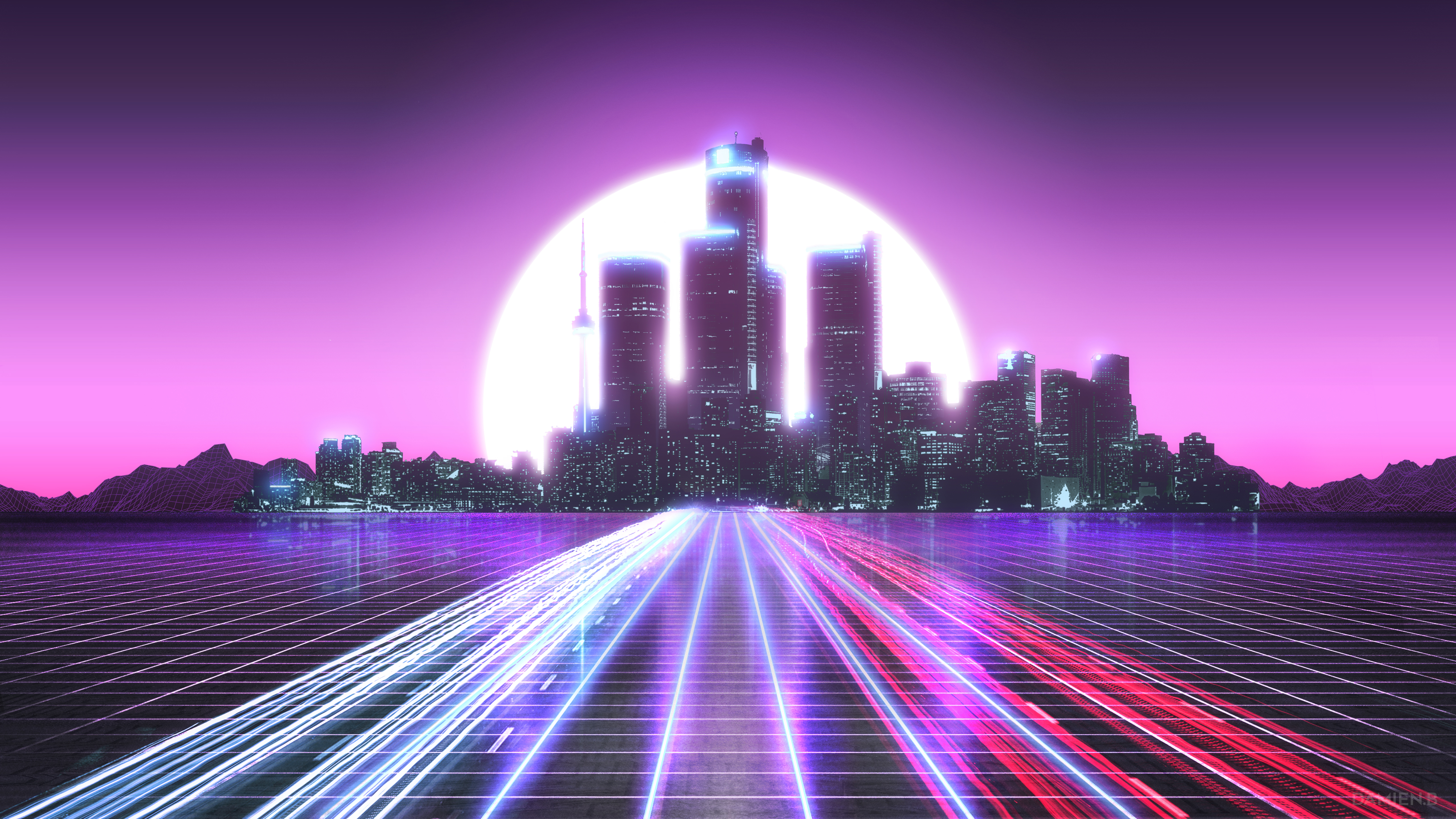 City Lights Long Exposure Synthwave 5k Hd Artist 4k Wallpapers Images Backgrounds Photos And Pictures