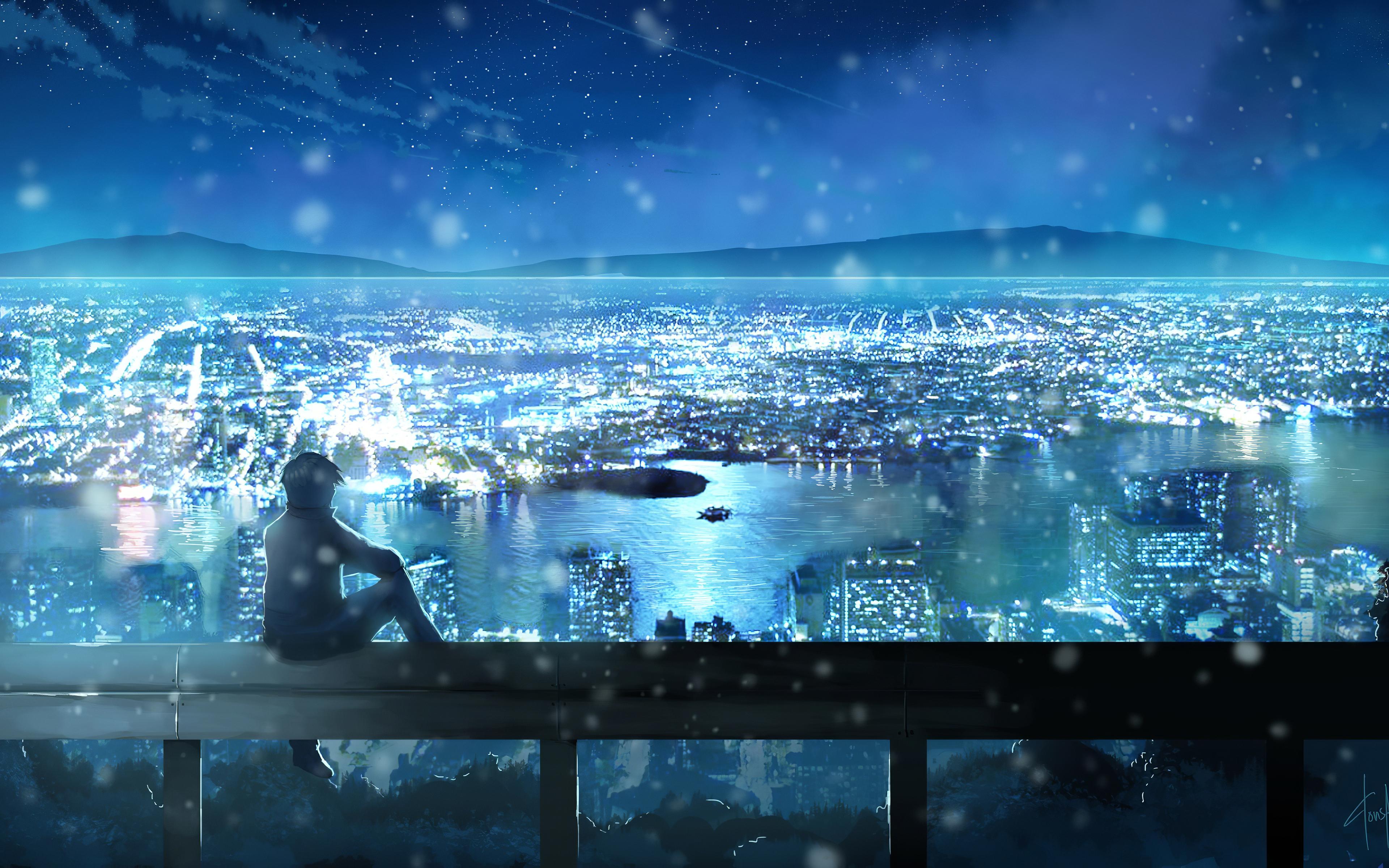 City Looks Nice From Here Anime 4k, HD Anime, 4k ...
