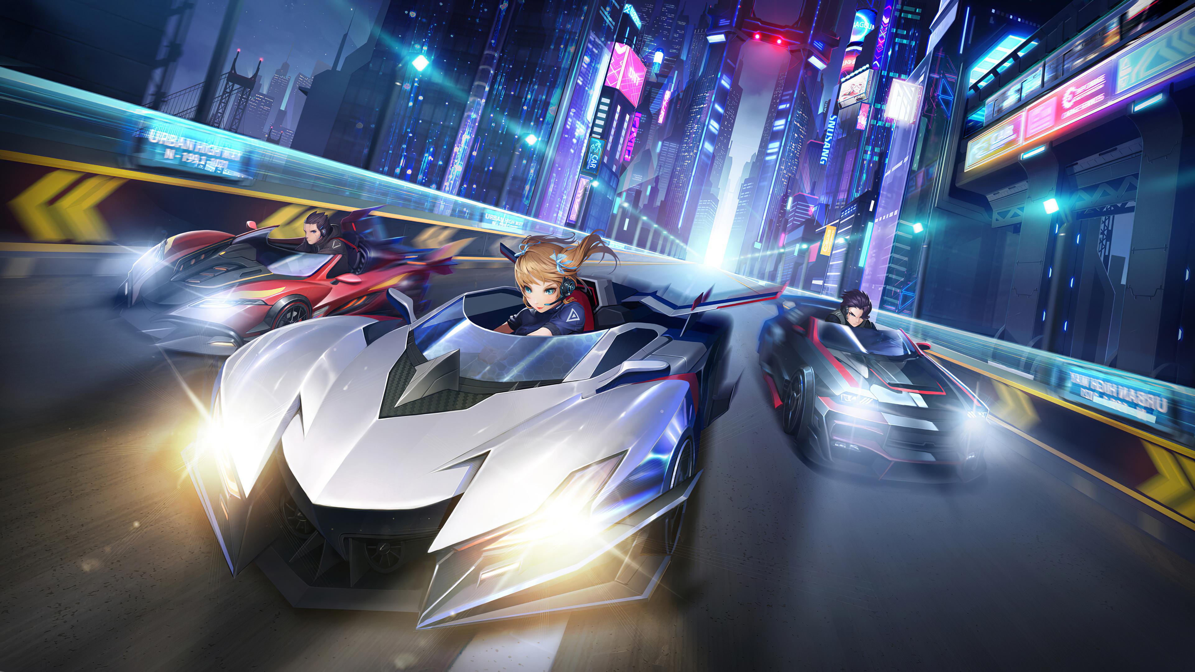 City Street Racing Anime 4k, HD Anime, 4k Wallpapers ...