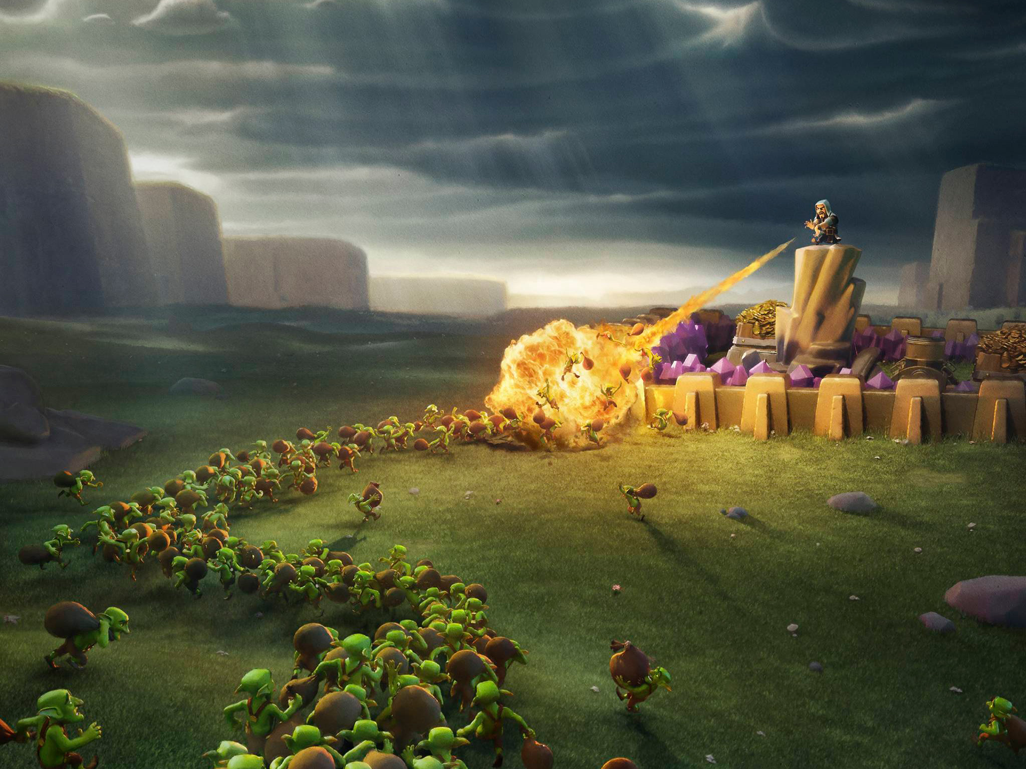 Clash Of Clans Wiz And Goblins Hd Games 4k Wallpapers