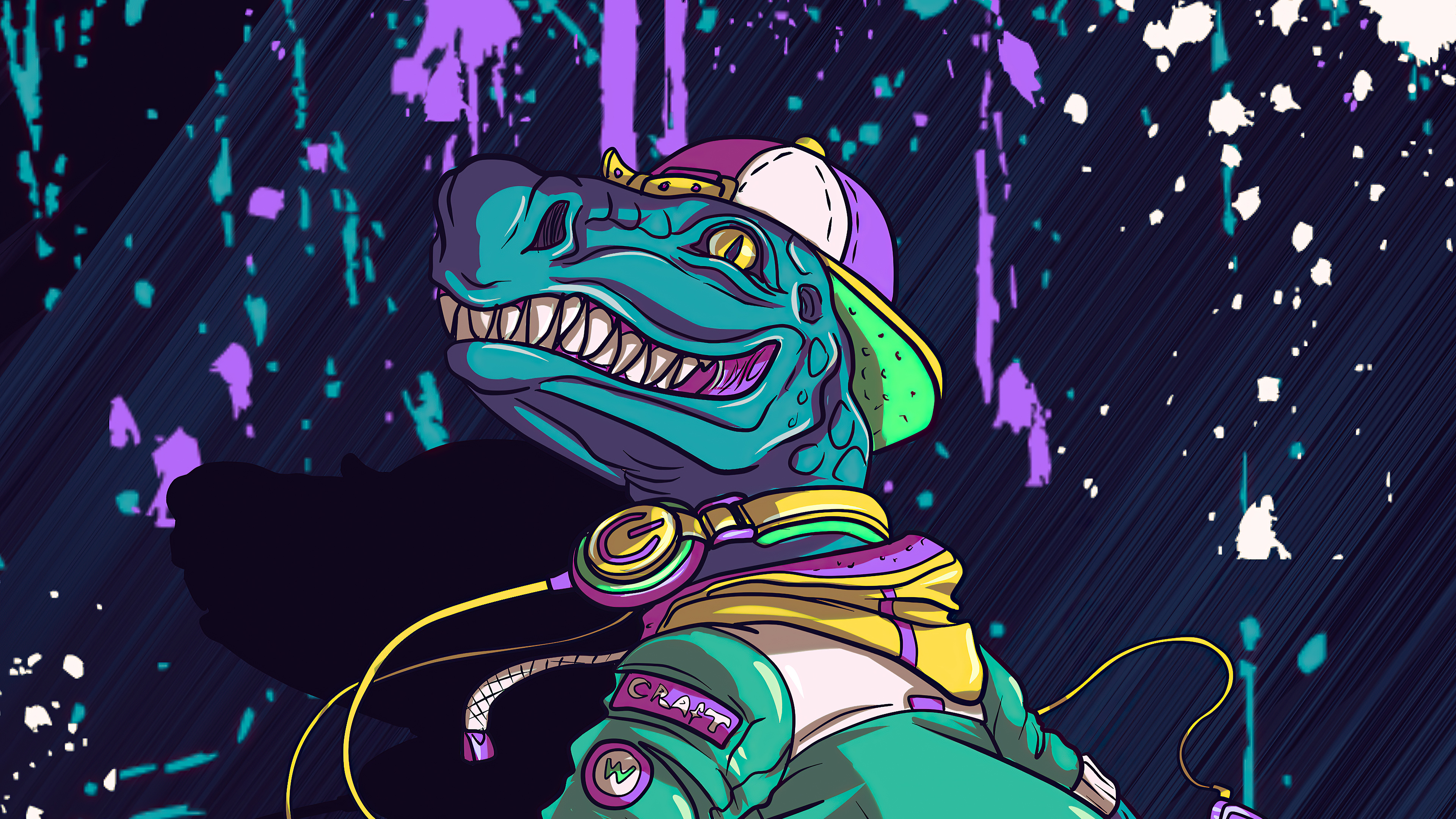 Cool Crocodile Skating Hd Artist 4k Wallpapers Images Backgrounds Photos And Pictures