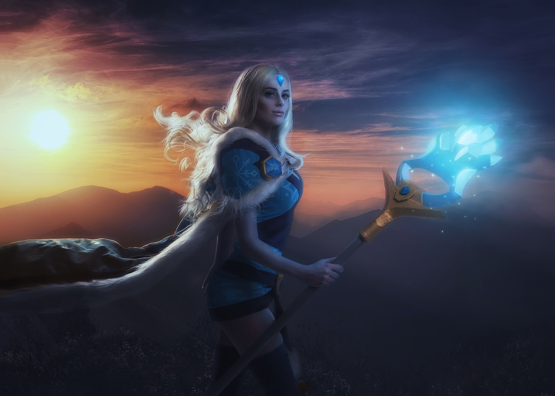 Crystal Maiden DotA 2 Cosplay HD Games 4k Wallpapers
