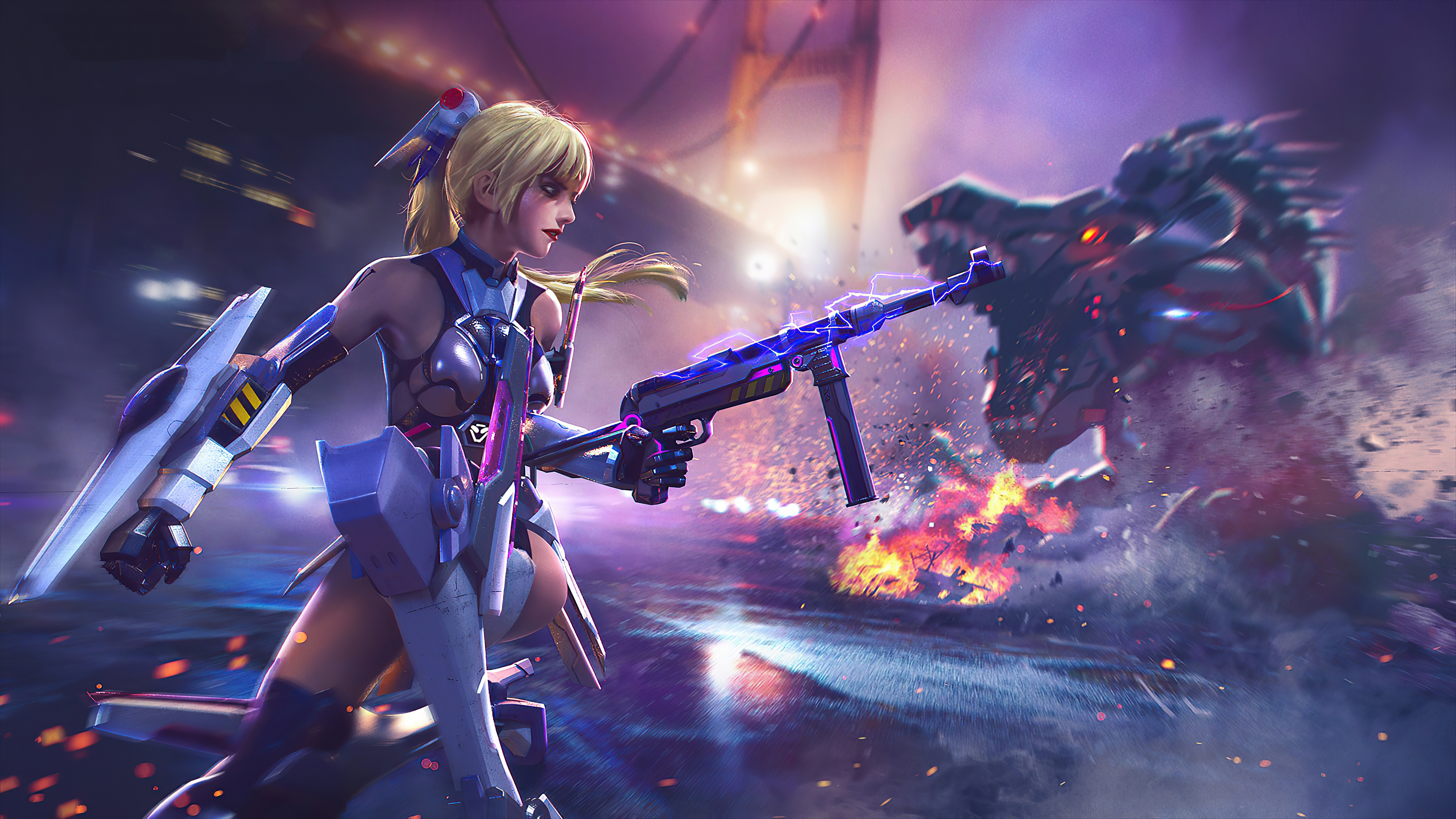 Cyber Girl Garena Free Fire Game 4k Hd Games 4k Wallpapers Images Backgrounds Photos And Pictures