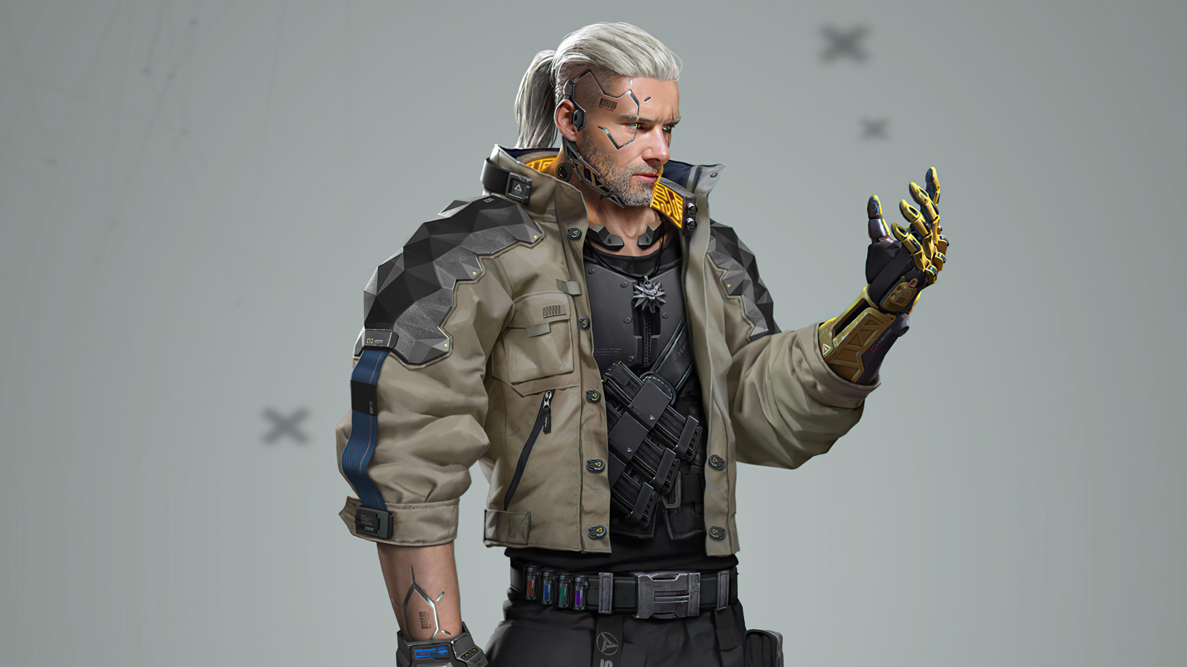 2560x1440 Cyberpunk 2077 Geralt 4K 1440P Resolution HD 4k ...