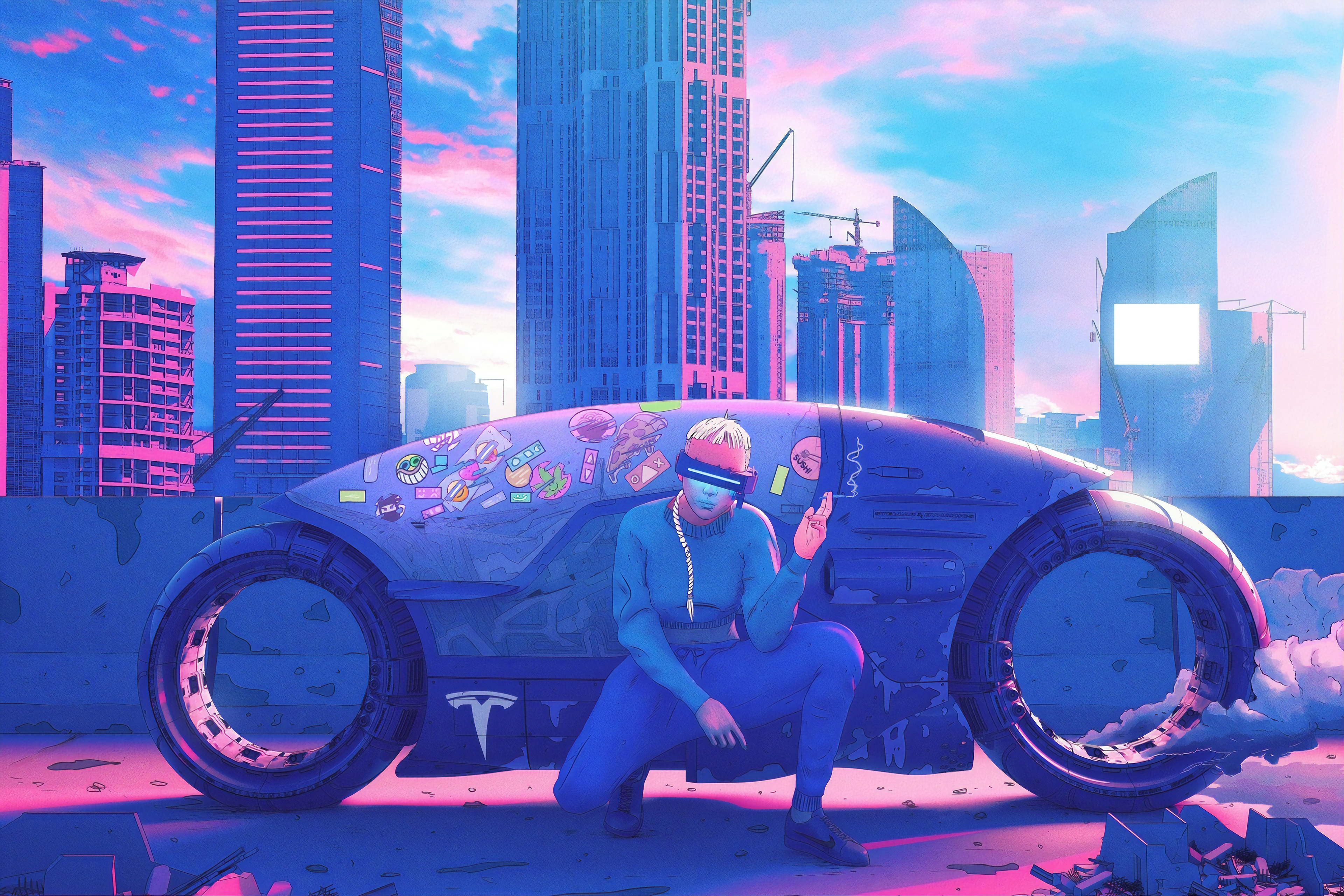 Cyberpunk Biker Rider 4k Hd Artist 4k Wallpapers Images Backgrounds Photos And Pictures