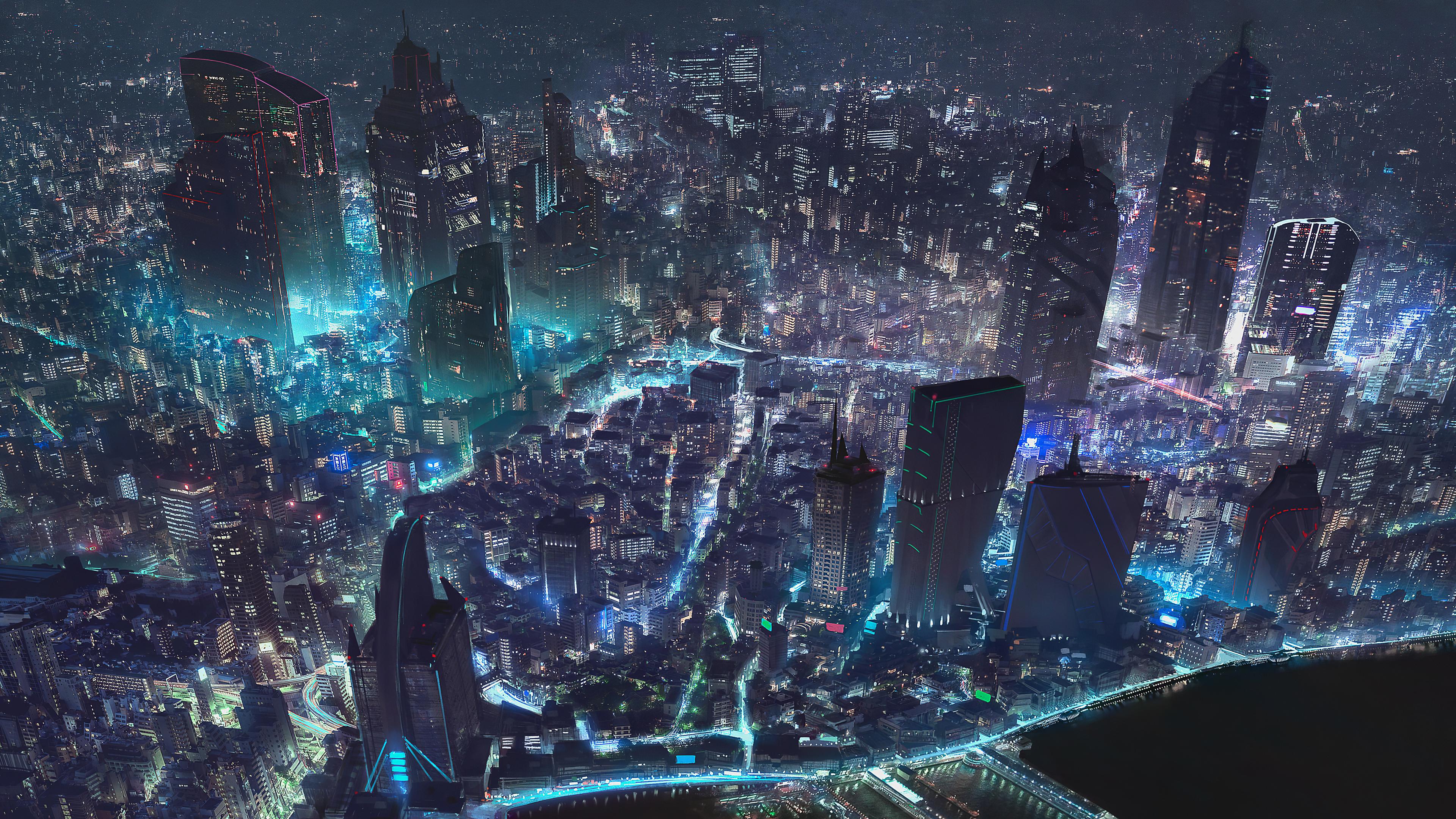 Cyberpunk City World Map 4k, HD Artist, 4k Wallpapers ...