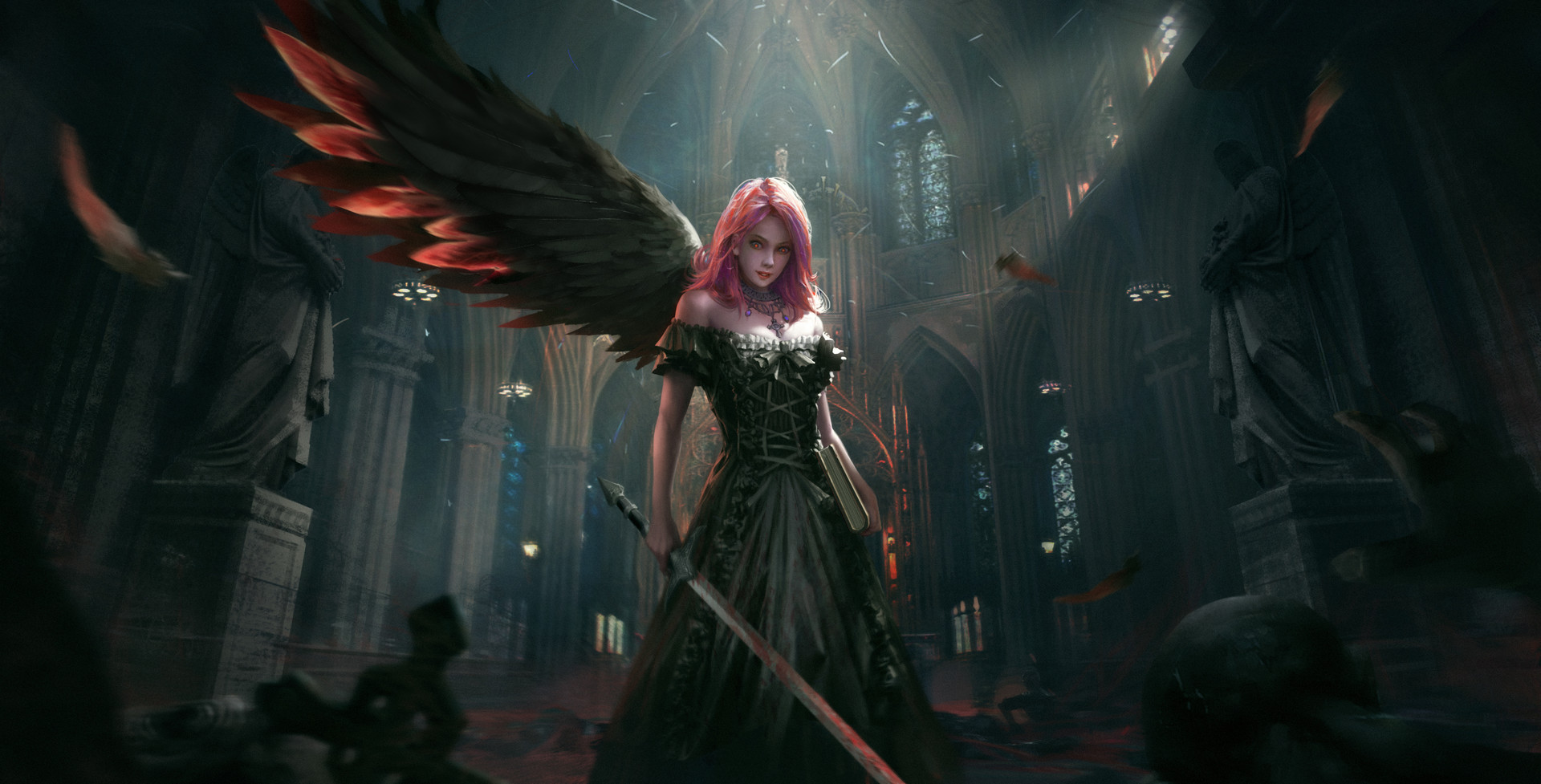 Dark Angel Hd Fantasy Girls 4k Wallpapers Images Backgrounds