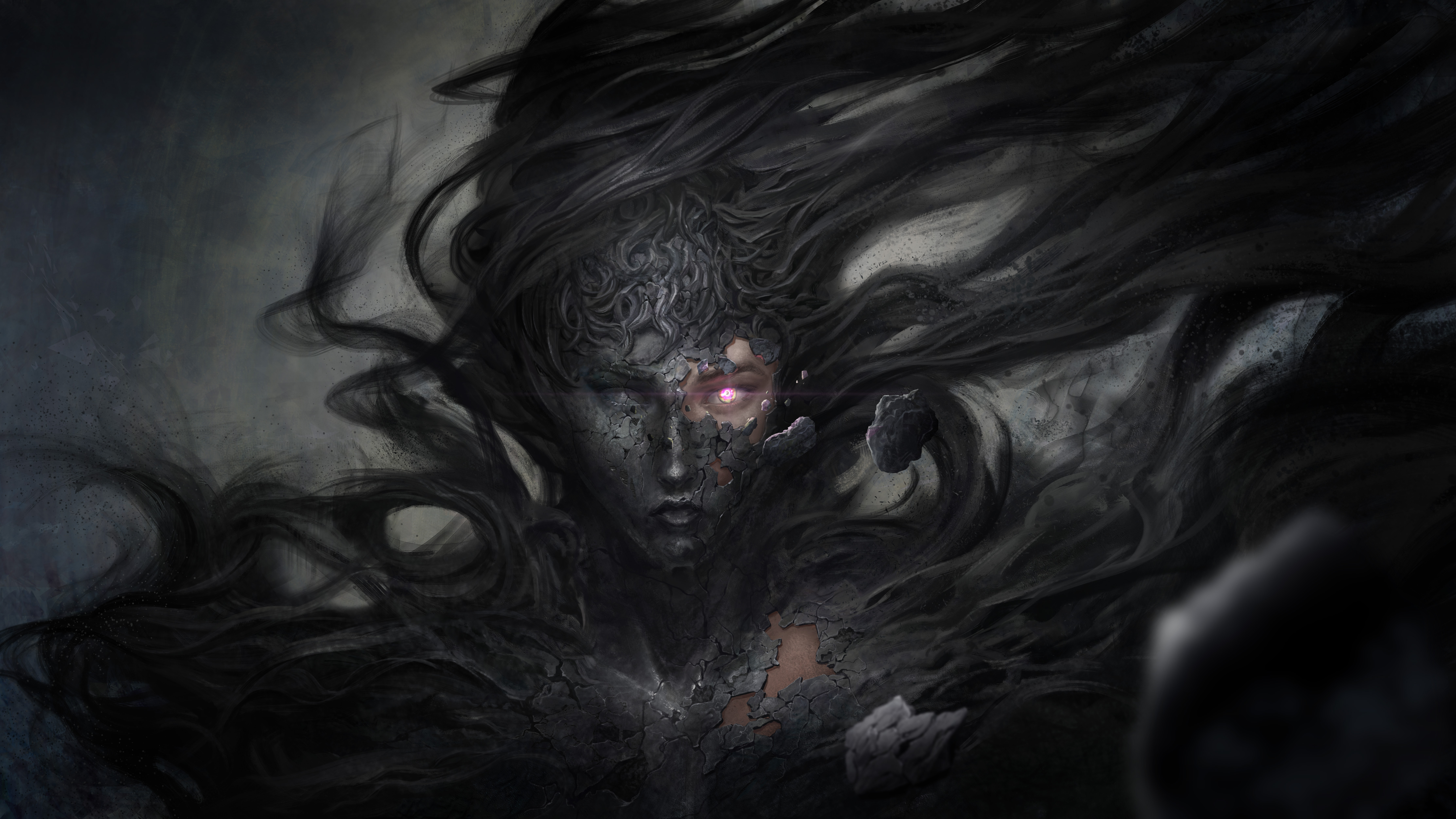 Dark Demon Fantasy Witch 8k Hd Artist 4k Wallpapers Images Backgrounds Photos And Pictures