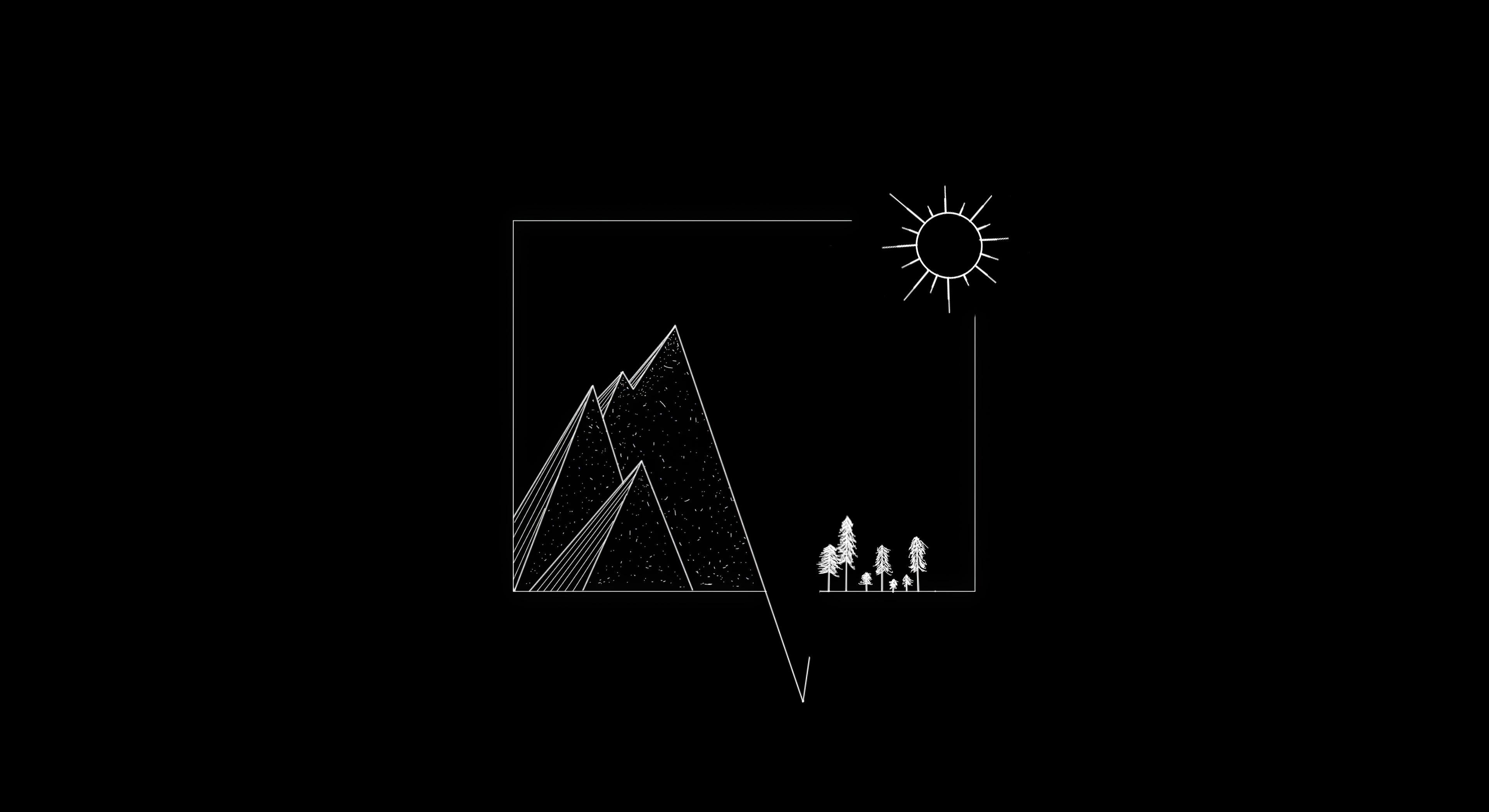 dark minimal scenery 4k