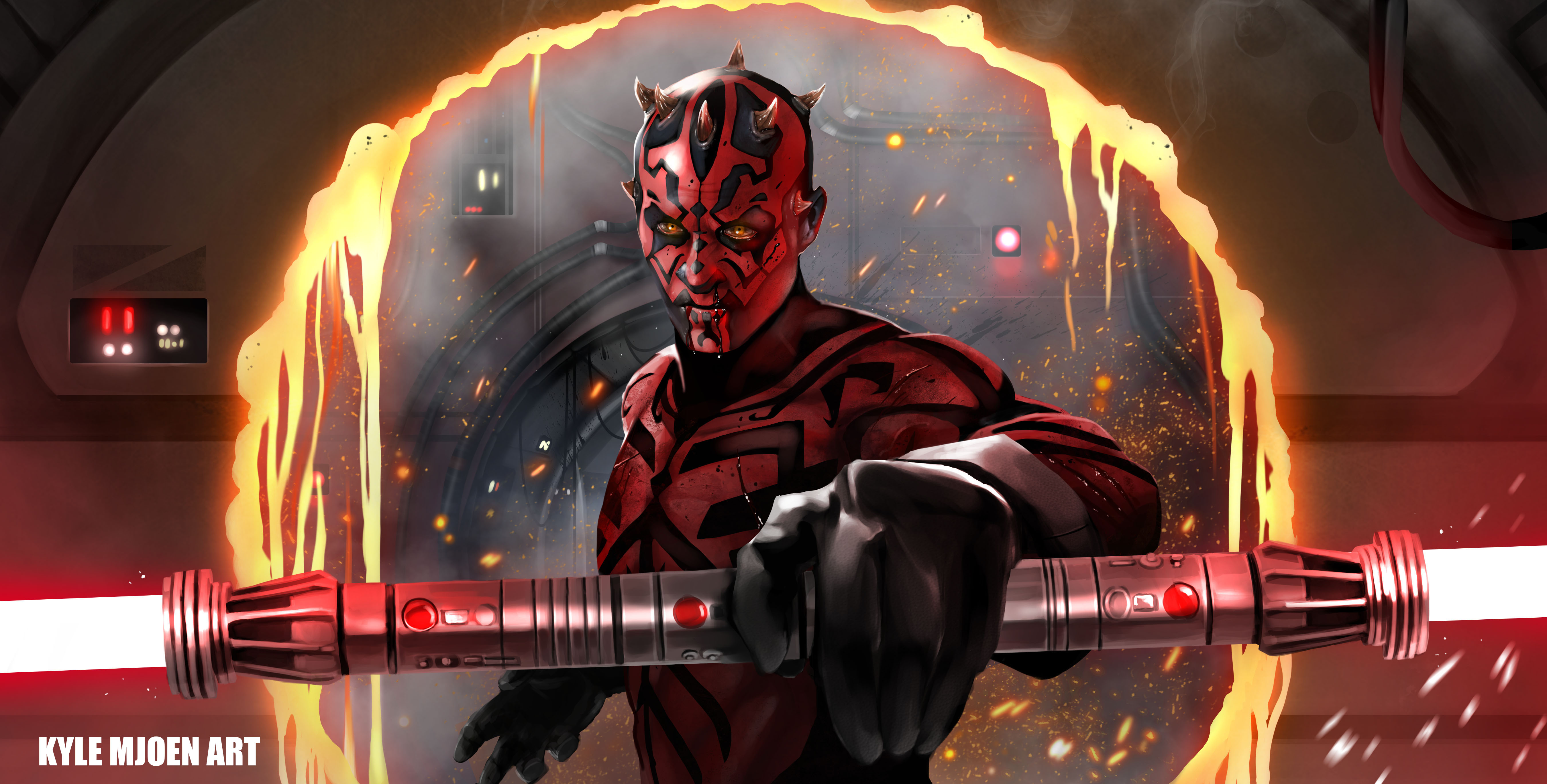 Darth Maul Digital Art 5k Hd Artist 4k Wallpapers Images Backgrounds Photos And Pictures