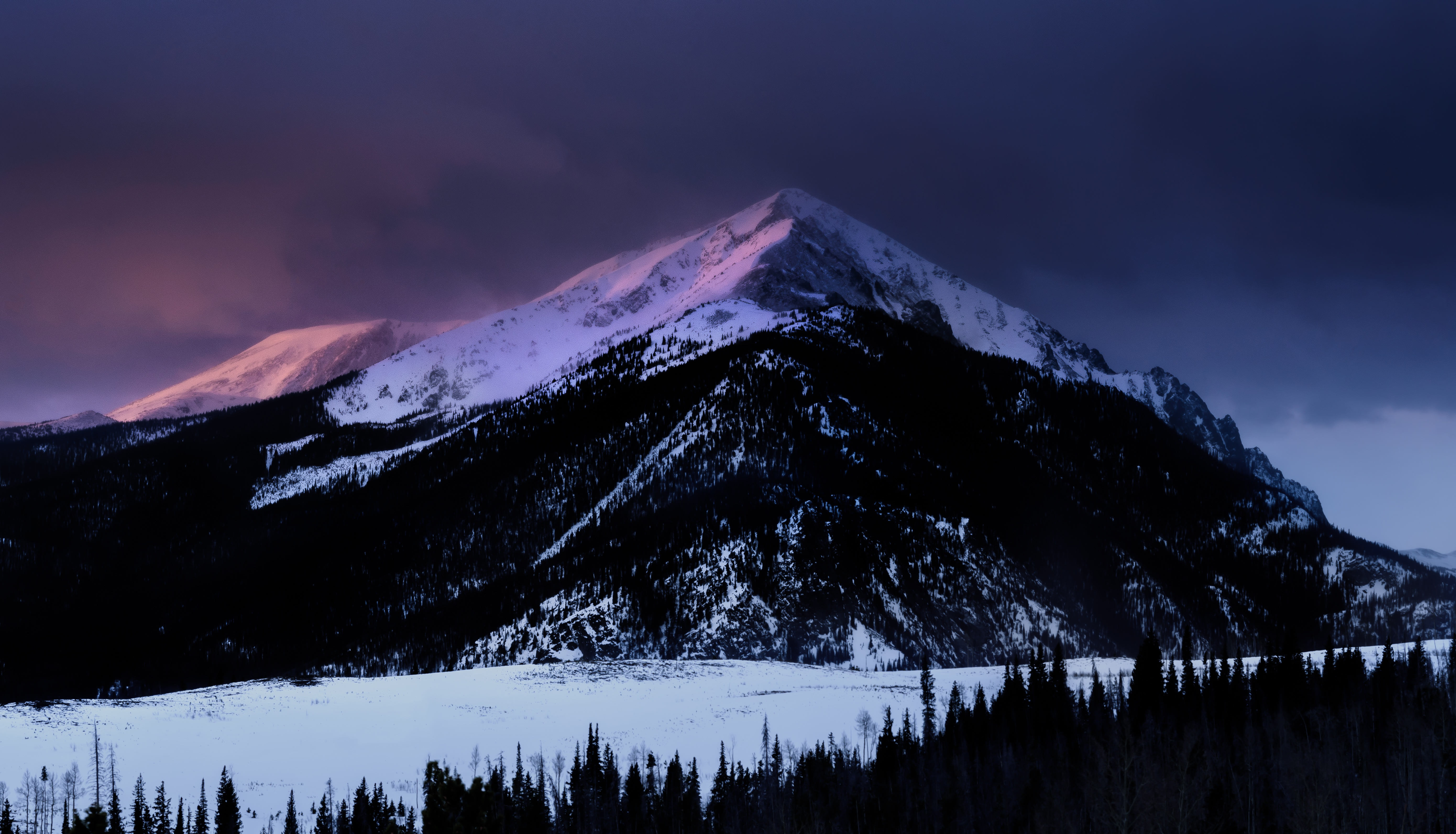Dawn Mountain Nature Snow Winter Hd Nature 4k Wallpapers Images Backgrounds Photos And Pictures