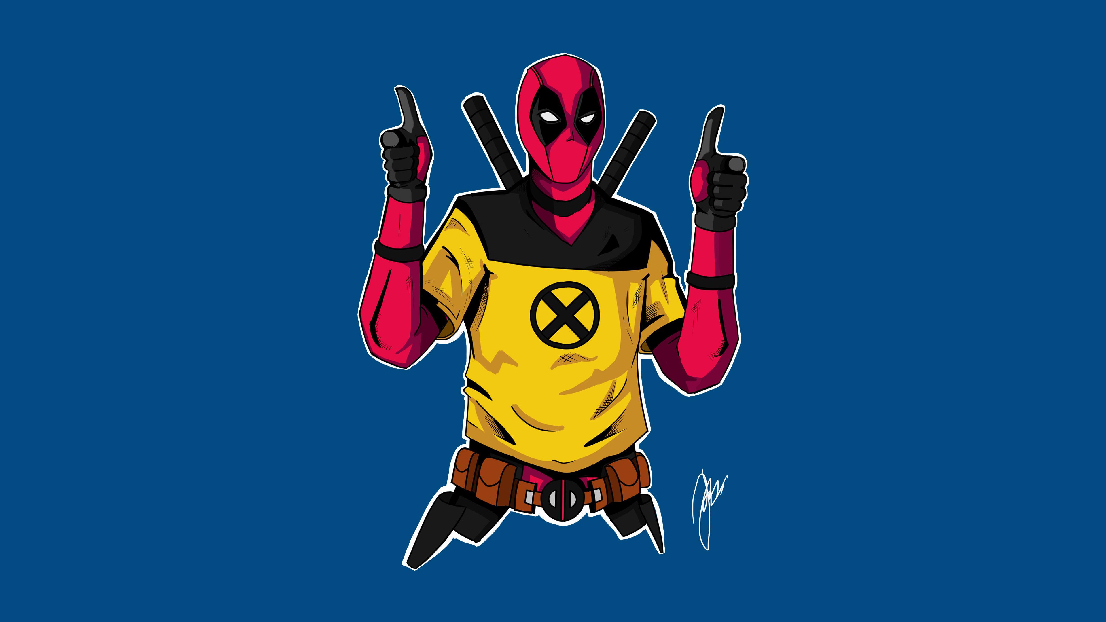 1366x768 Deadpool 2 Character Artwork