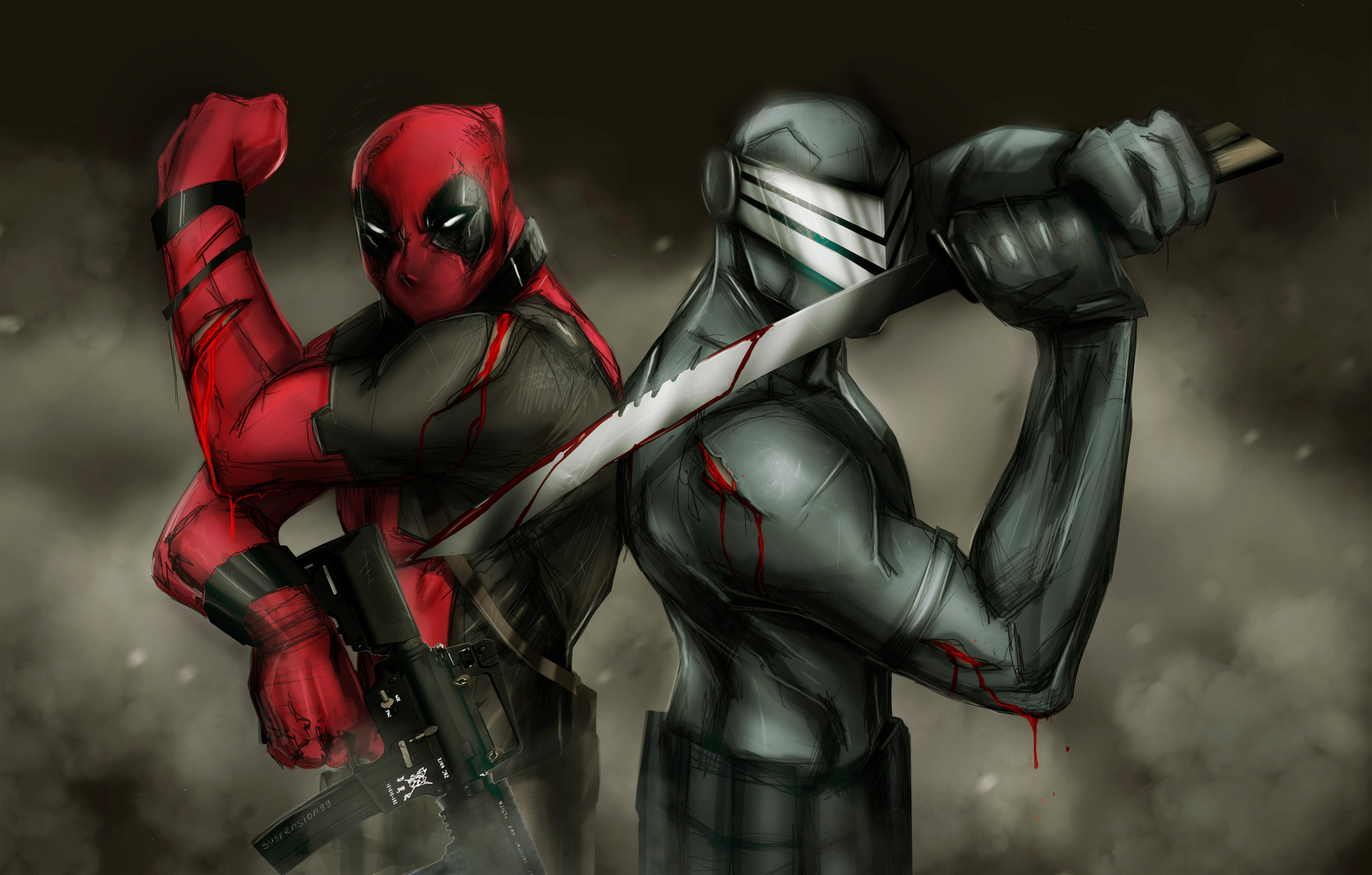 Deadpool And Snake Eyes Hd Superheroes 4k Wallpapers Images Backgrounds Photos And Pictures