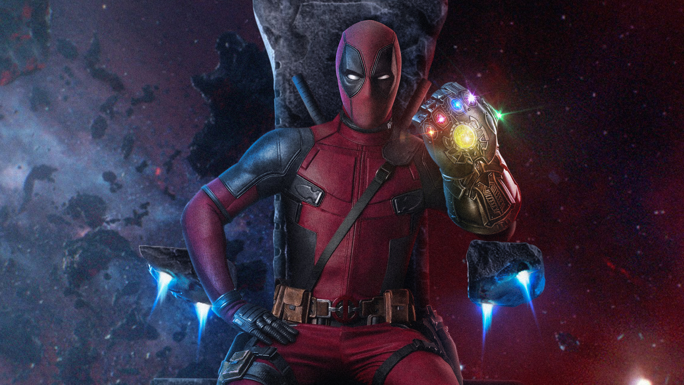 1920x1080 Deadpool With Infinity Gauntlet Laptop Full Hd 1080p Hd 4k Wallpapers Images Backgrounds Photos And Pictures