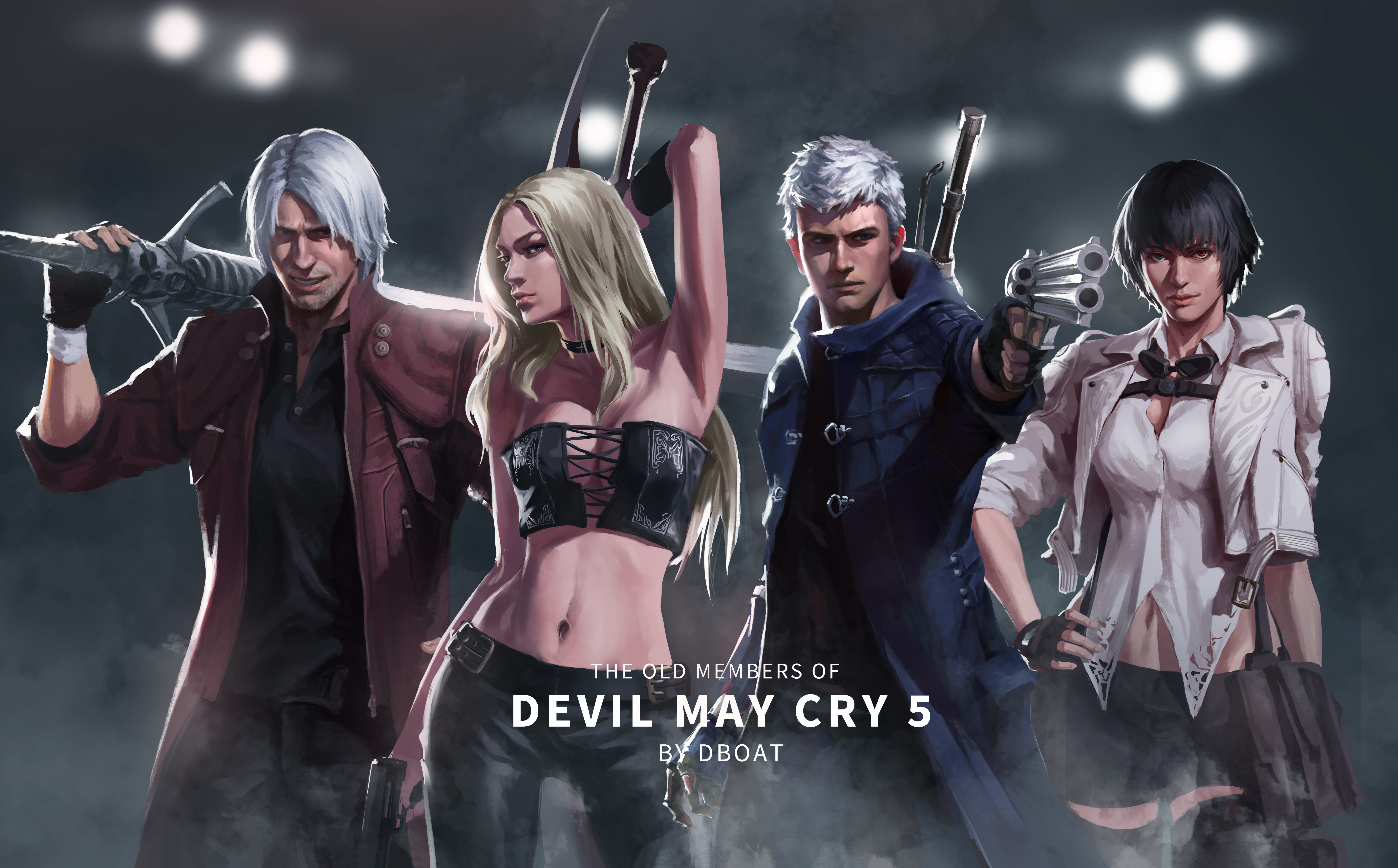 Devil May Cry 5 Old Members 8k Hd Games 4k Wallpapers Images