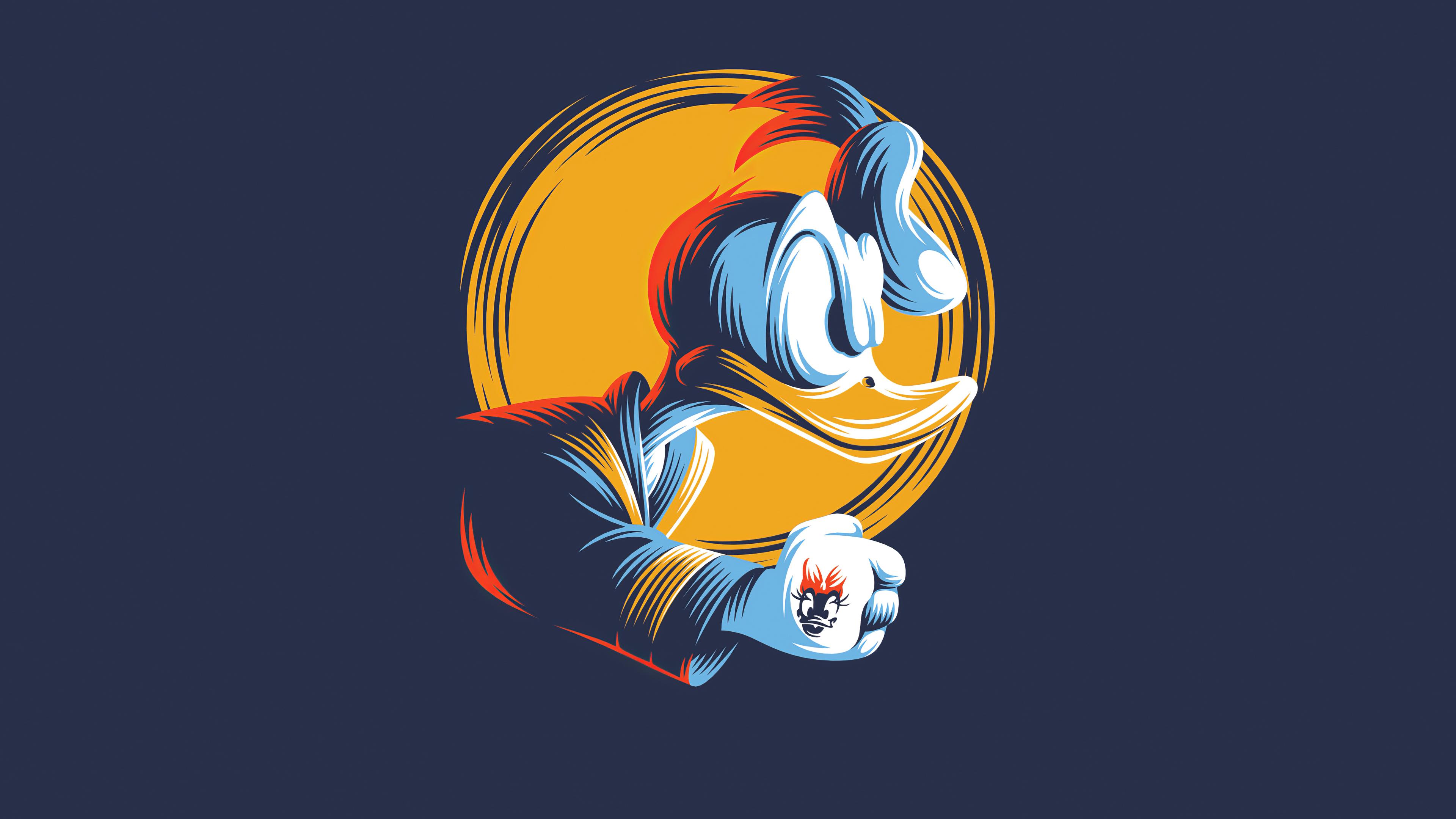 Donald Duck Minimal Art 4k Hd Cartoons 4k Wallpapers Images