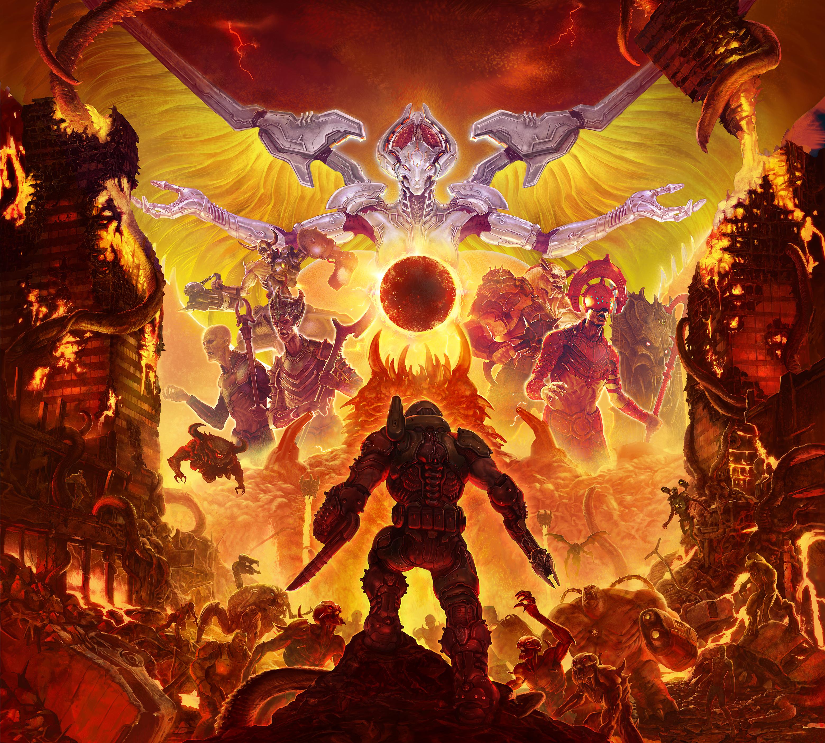Doom Eternal 2019, HD Games, 4k Wallpapers, Images