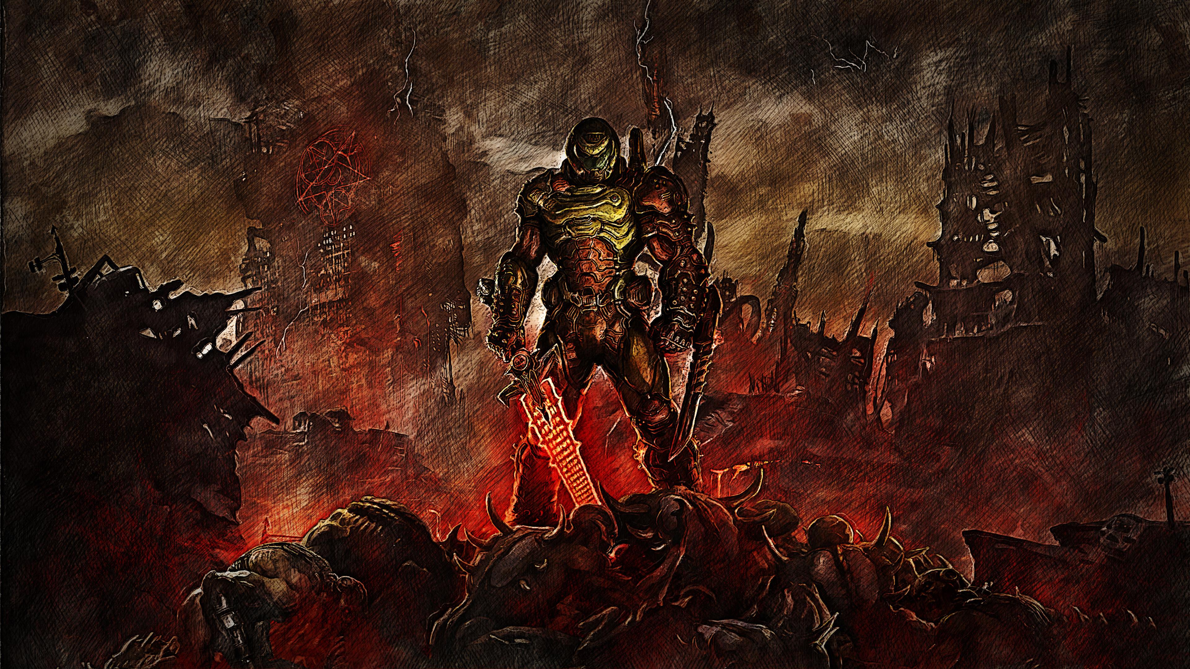 Doom Slayer, HD Games, 4k Wallpapers, Images, Backgrounds ...