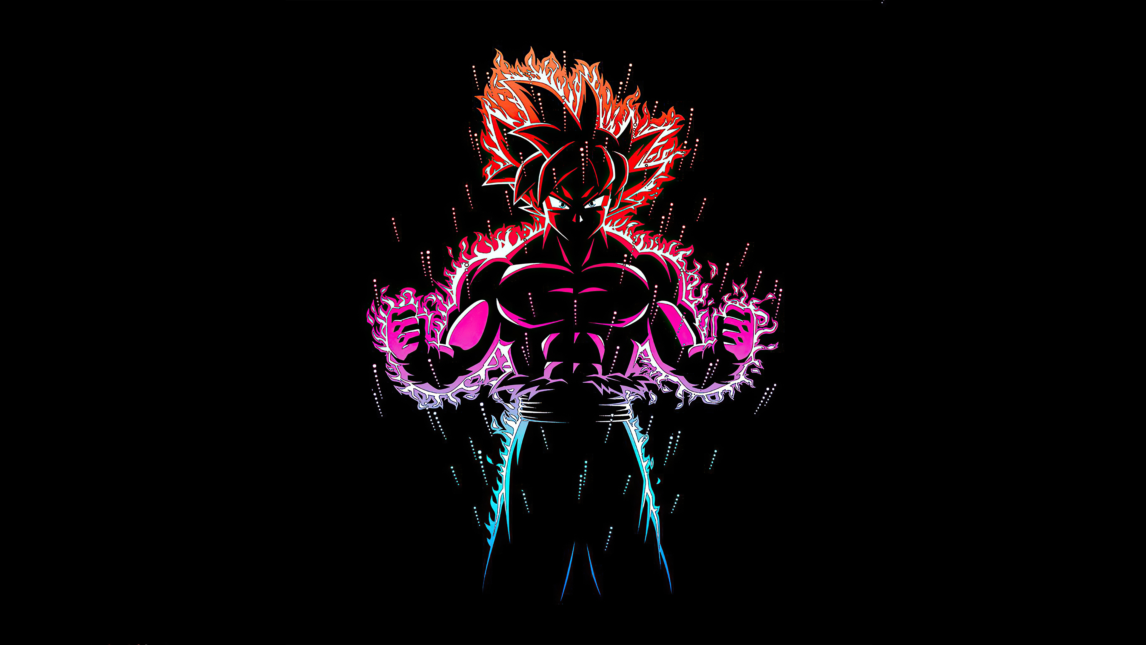 Dragon Ball Z Goku Ultra Instinct Fire 4k Hd Anime 4k Wallpapers Images Backgrounds Photos And Pictures