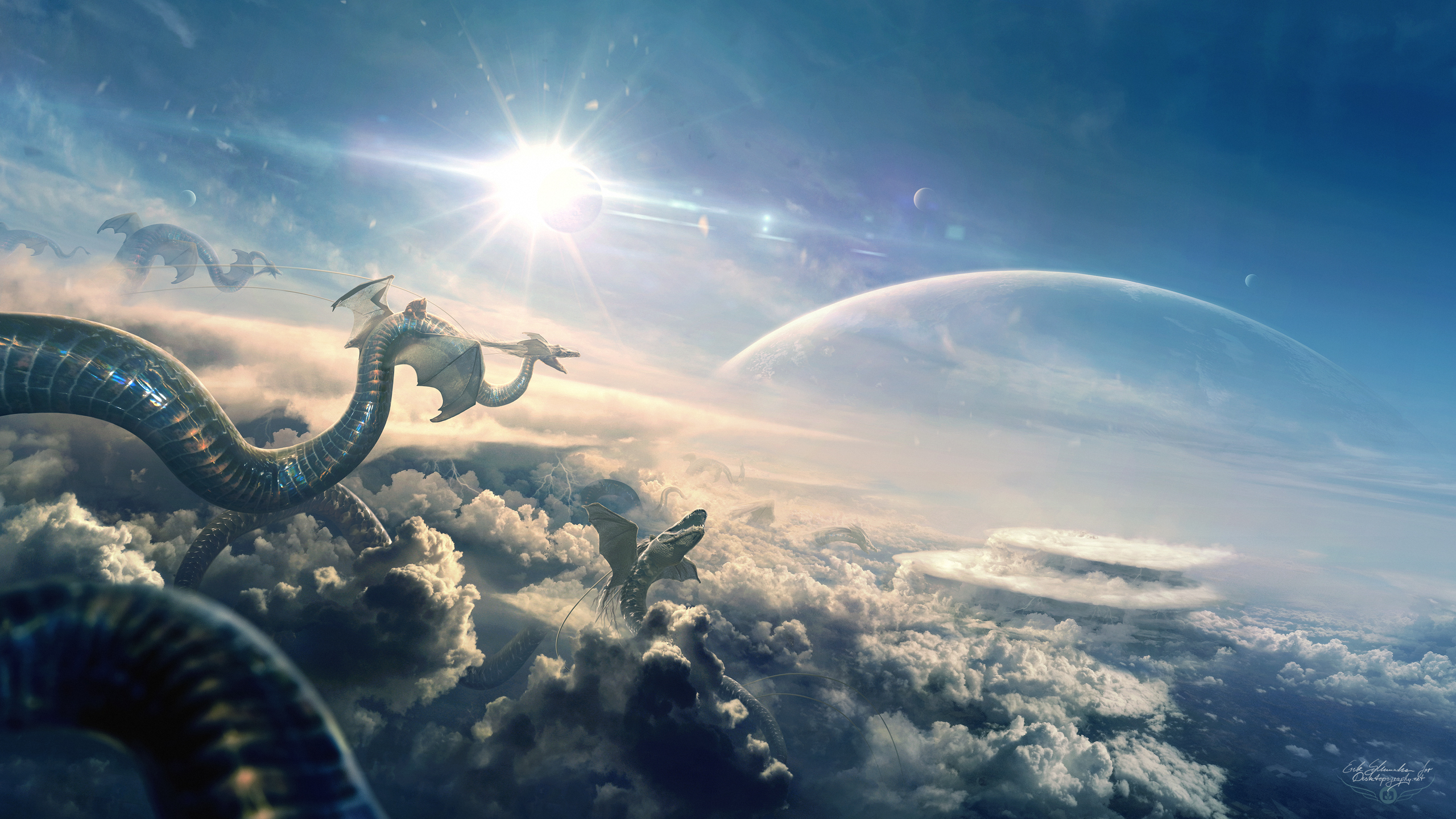 Dragon Flight Eclipse Hd Artist 4k Wallpapers Images Backgrounds Photos And Pictures