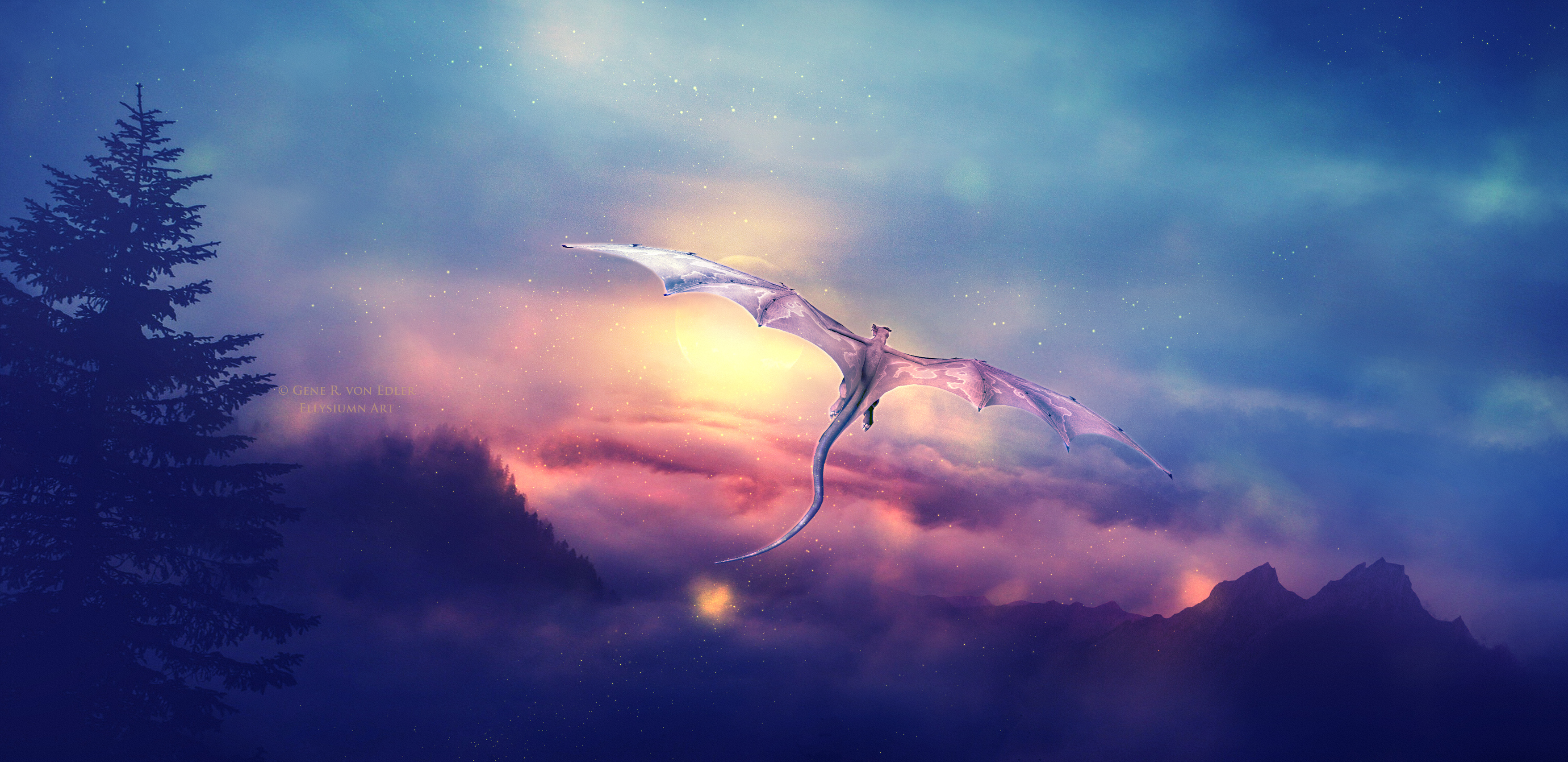 Dragon Flying Over Hd Artist 4k Wallpapers Images
