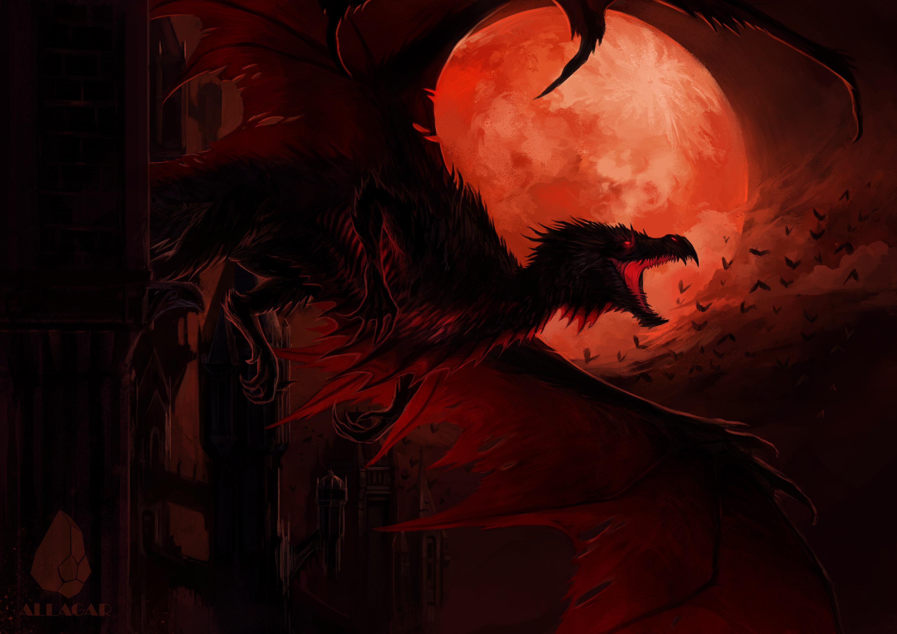 1336x768 Dragon In Dark Night 4k Laptop Hd Hd 4k Wallpapers