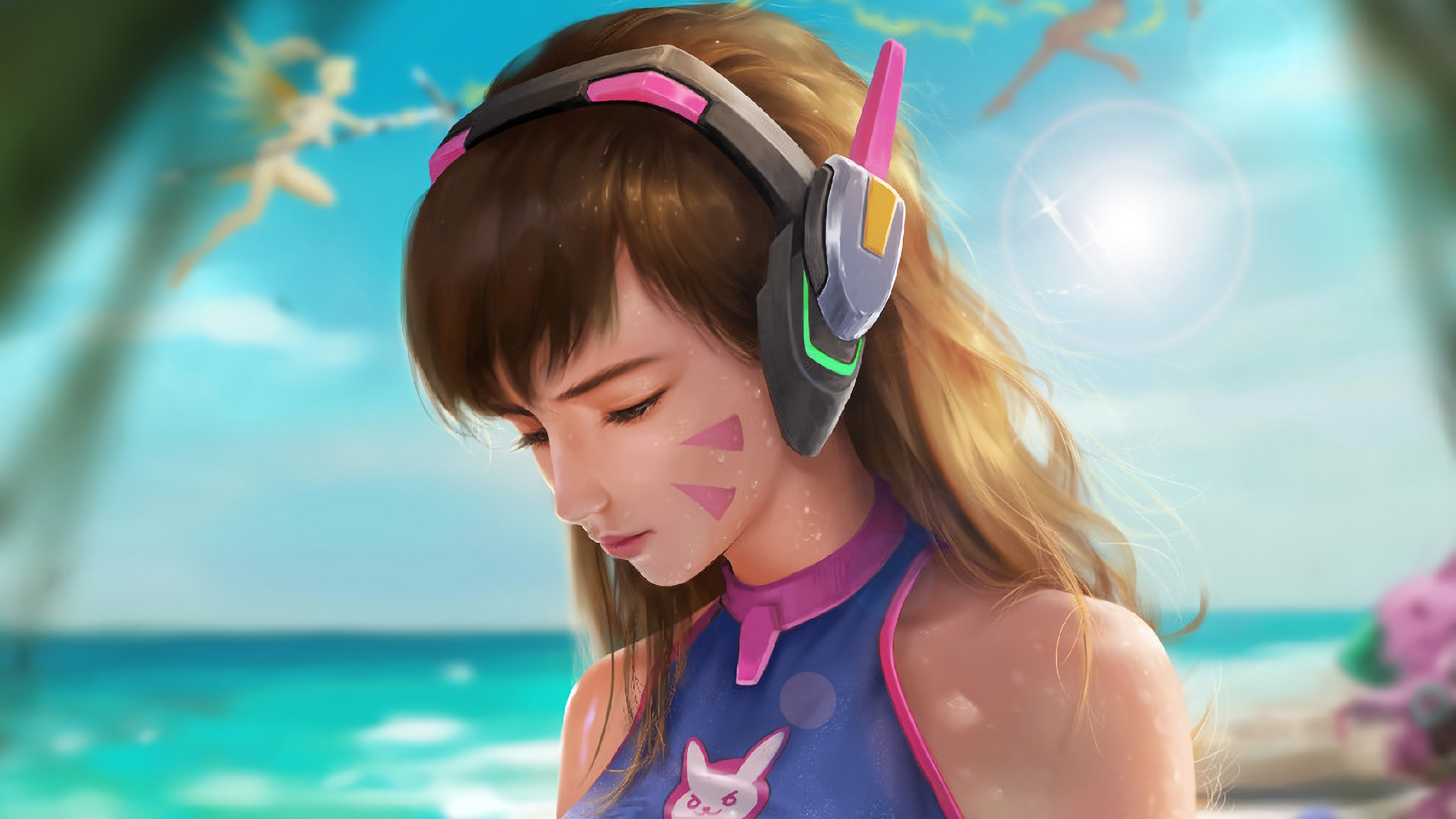 Dva Overwatch Beach Hd Games 4k Wallpapers Images Backgrounds Photos And Pictures