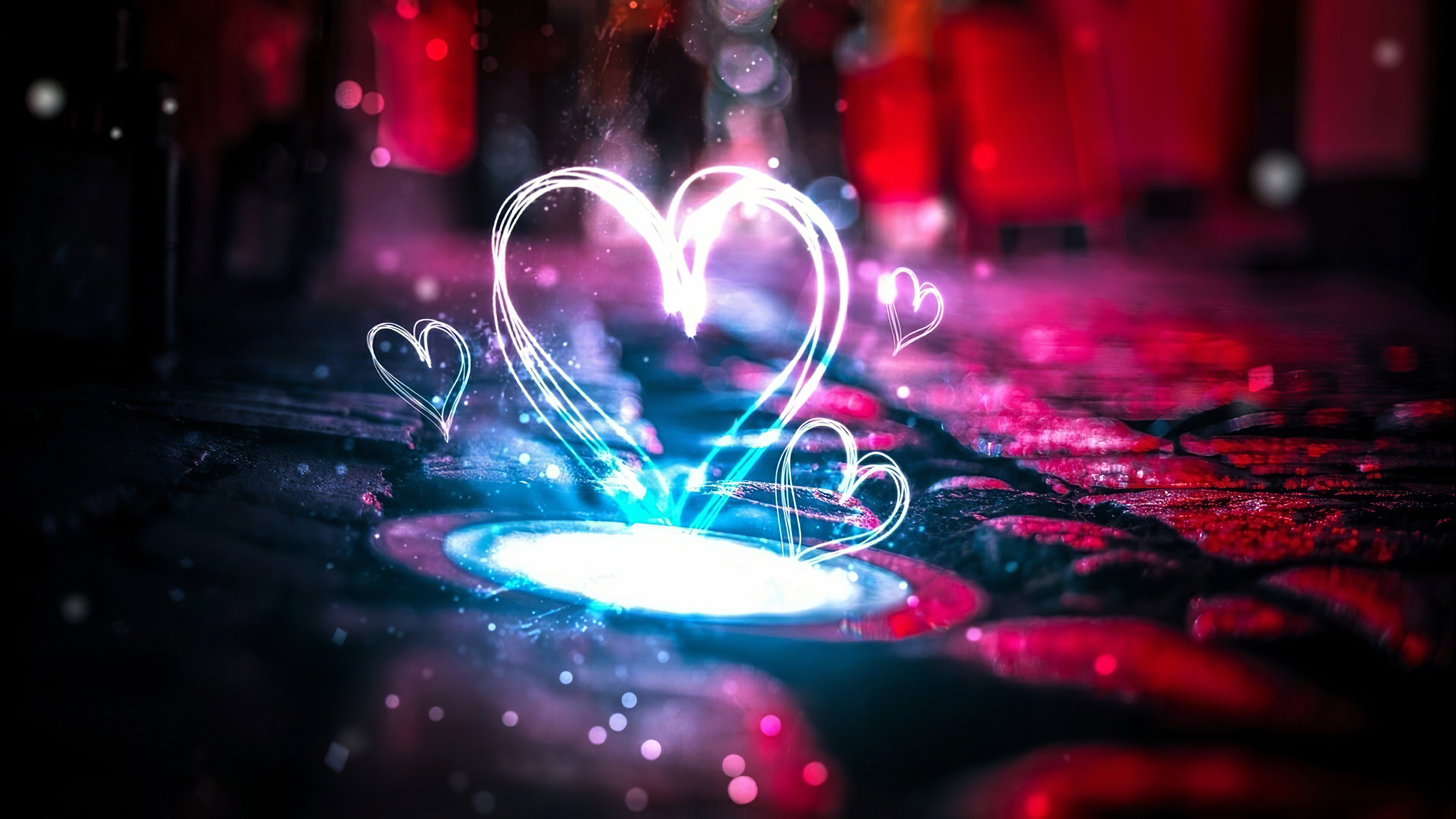 Electric Love Heat 4k Hd Love 4k Wallpapers Images Backgrounds Photos And Pictures