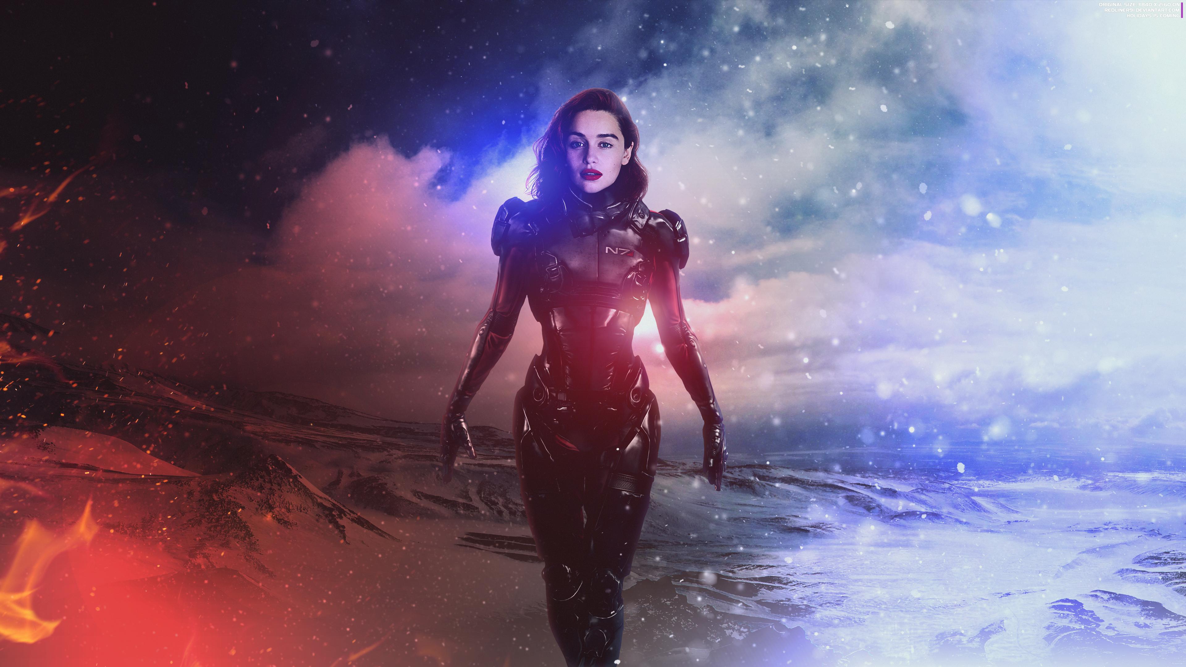 Emilia Clarke Mass Effect Andromeda 4k Hd Games 4k Wallpapers