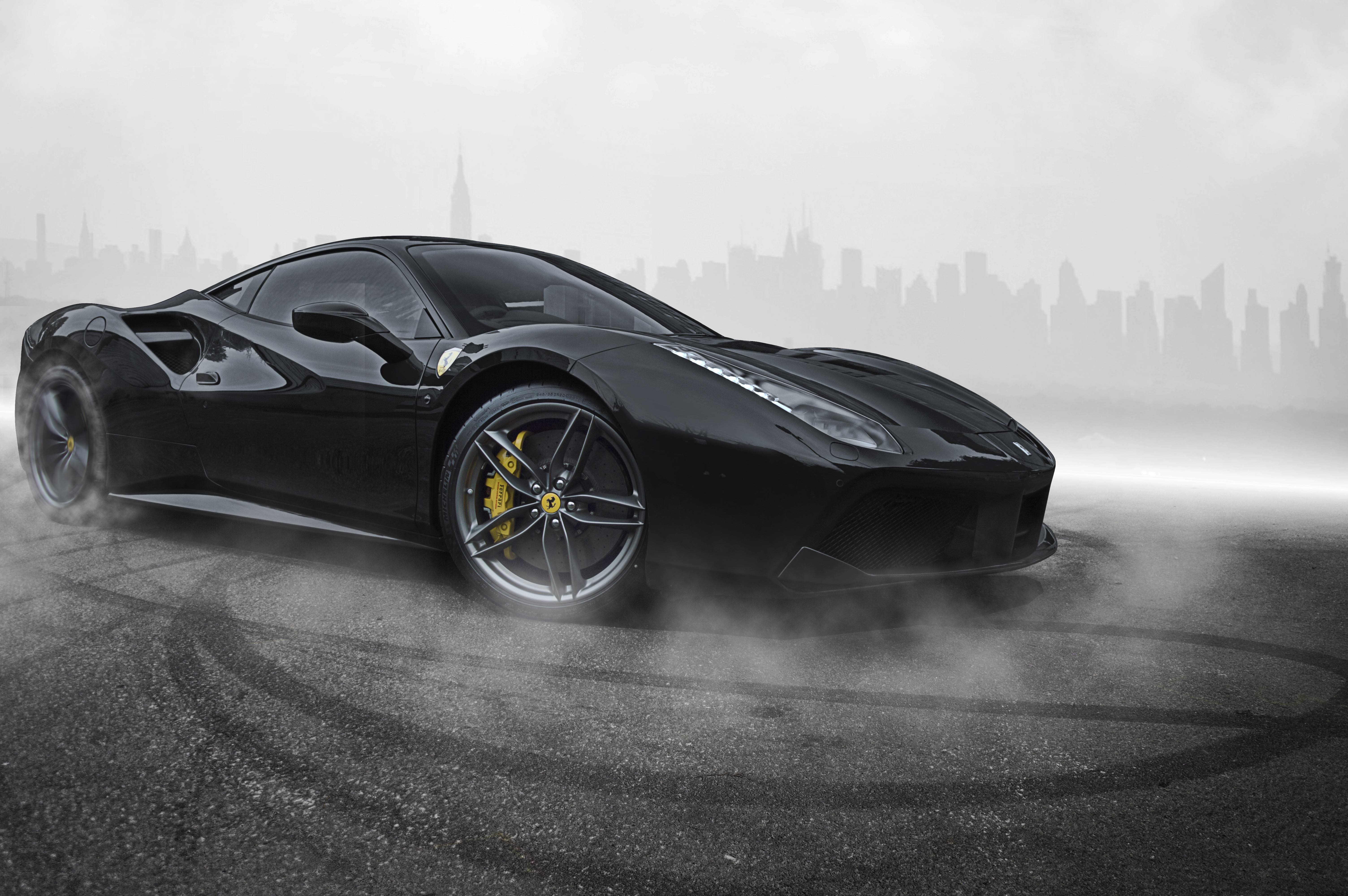 Ferrari 488 Black Hd Cars 4k Wallpapers Images Backgrounds Photos And Pictures