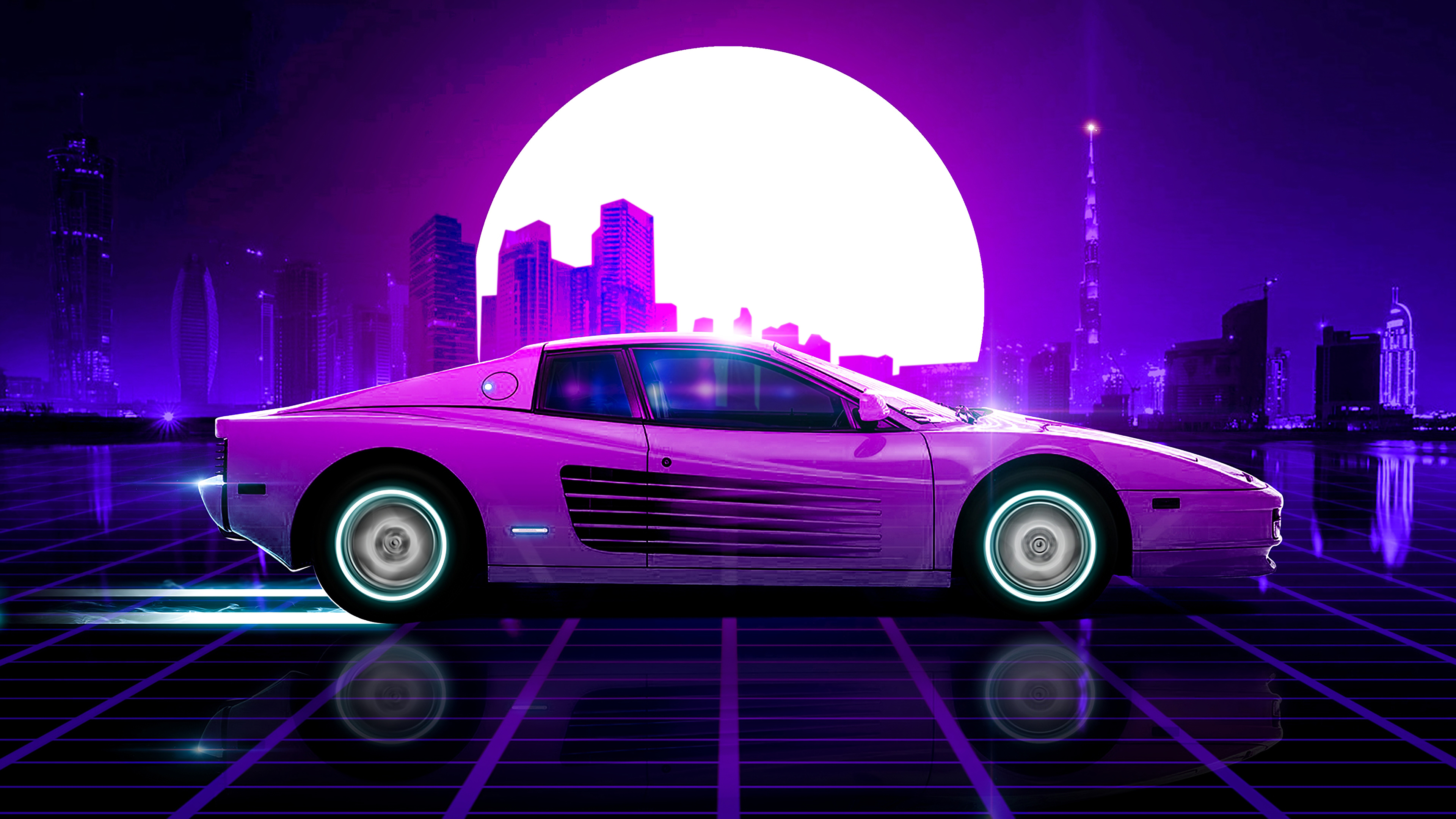 Ferrari Synthwave 4k, HD Cars, 4k Wallpapers, Images ...
