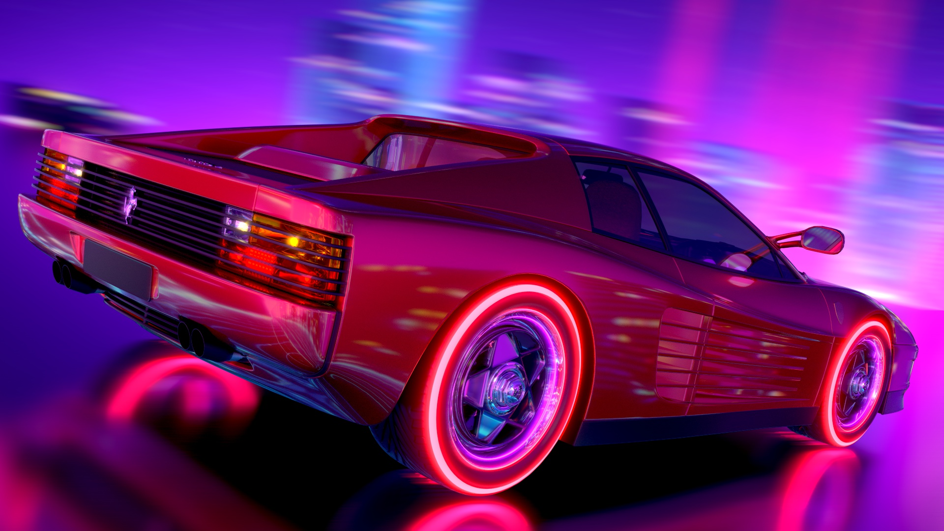 Ferrari Testarossa Retrowave Hd Artist 4k Wallpapers Images Backgrounds Photos And Pictures