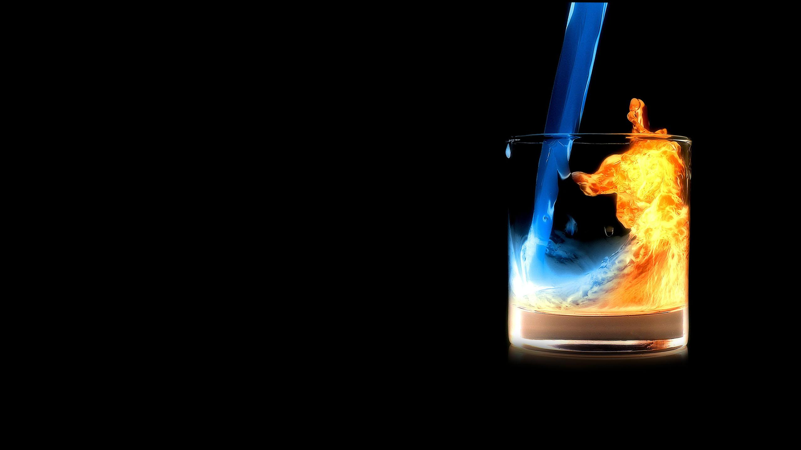 Fire Water In Glass Hd Creative 4k Wallpapers Images