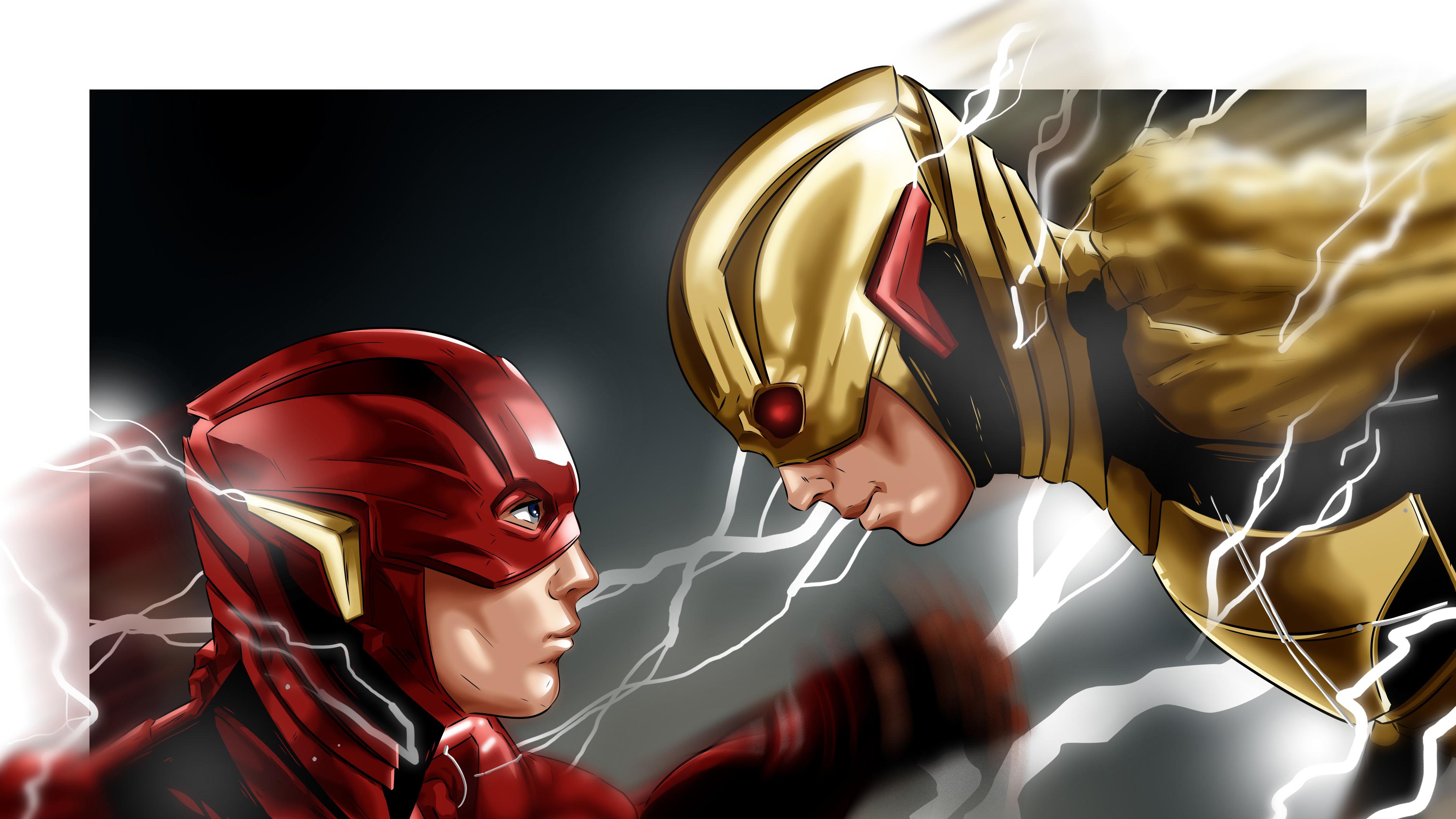Flash Vs Reverse Flash 4k Hd Superheroes 4k Wallpapers Images