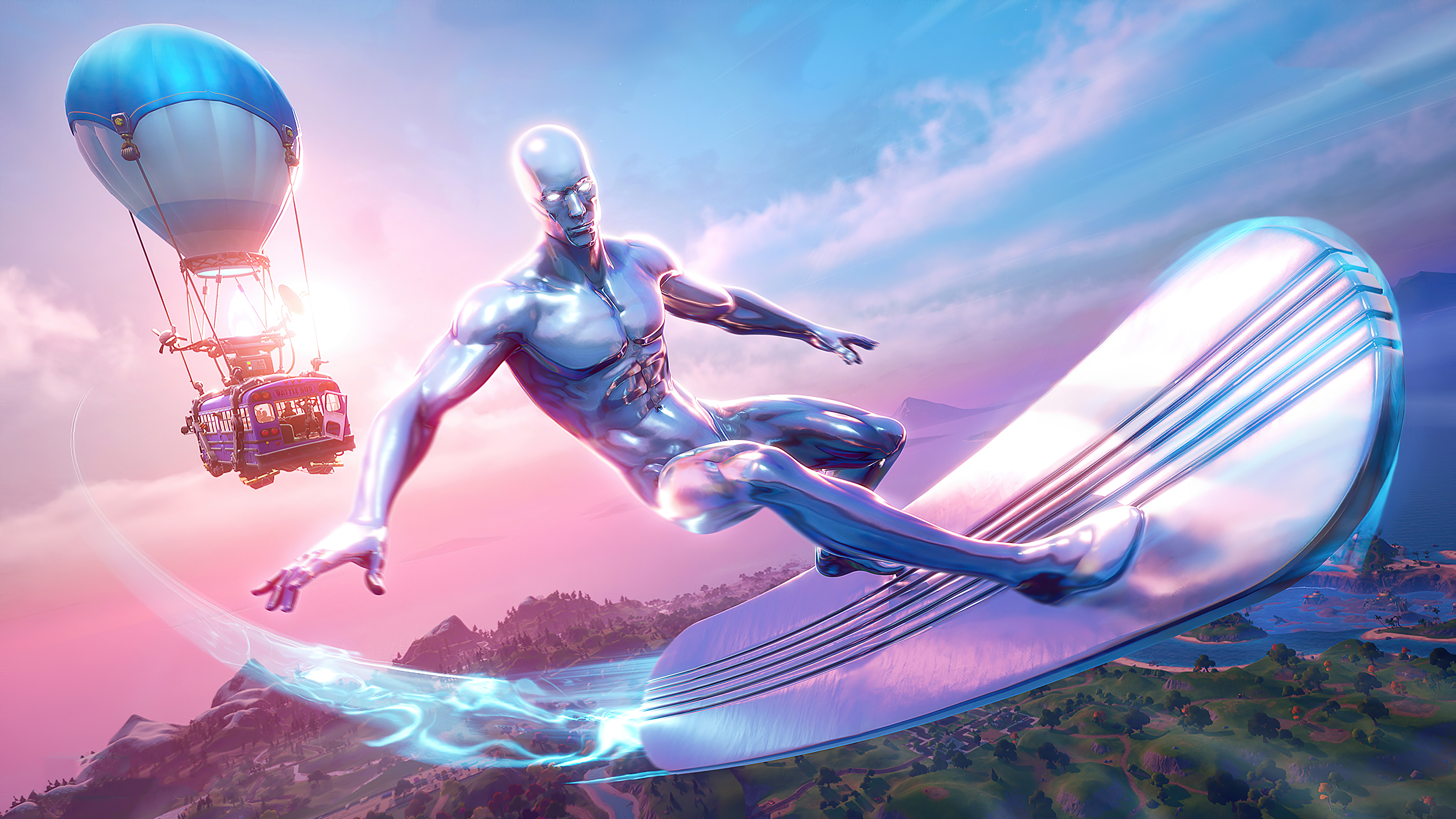 1336x768 Fortnite Season 4 Silver Surfer Laptop Hd Hd 4k Wallpapers Images Backgrounds Photos And Pictures