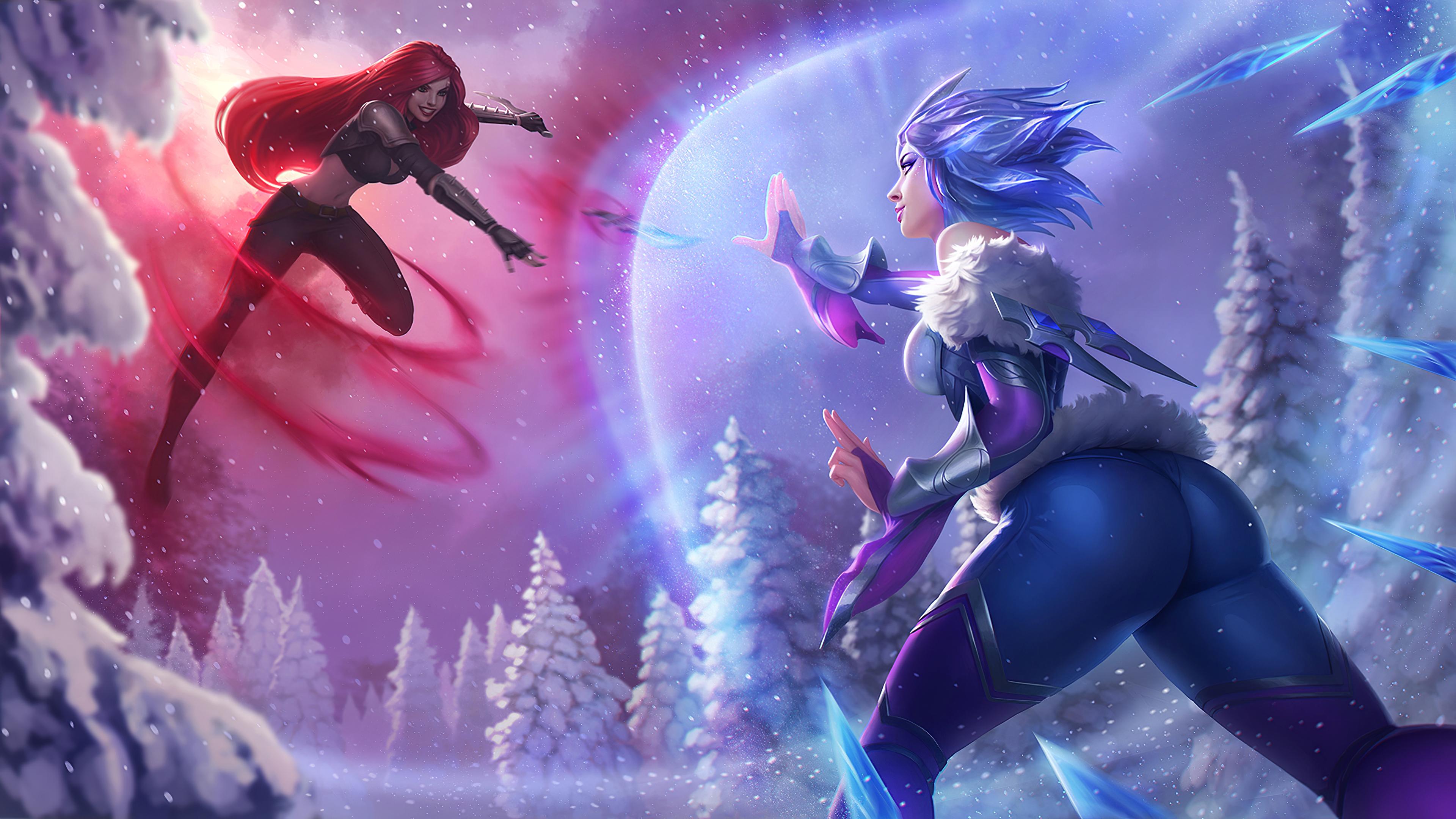 Frostblade Irelia Vs Katarina League Of Legends 4k Hd Games 4k