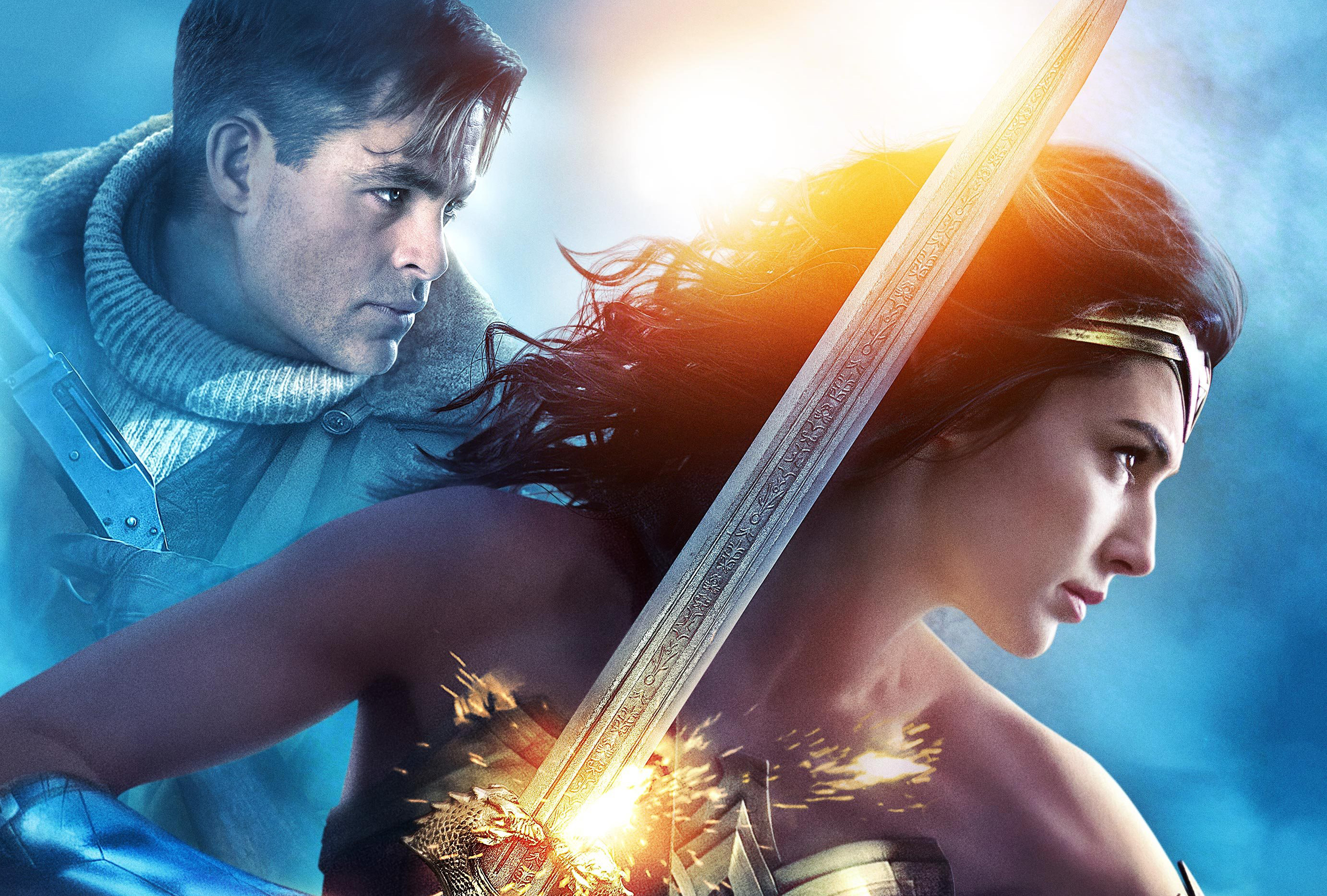1366x768 gal gadot and chris pine in wonder woman 1366x768 resolution hd 4k wallpapers images backgrounds photos and pictures hdqwalls