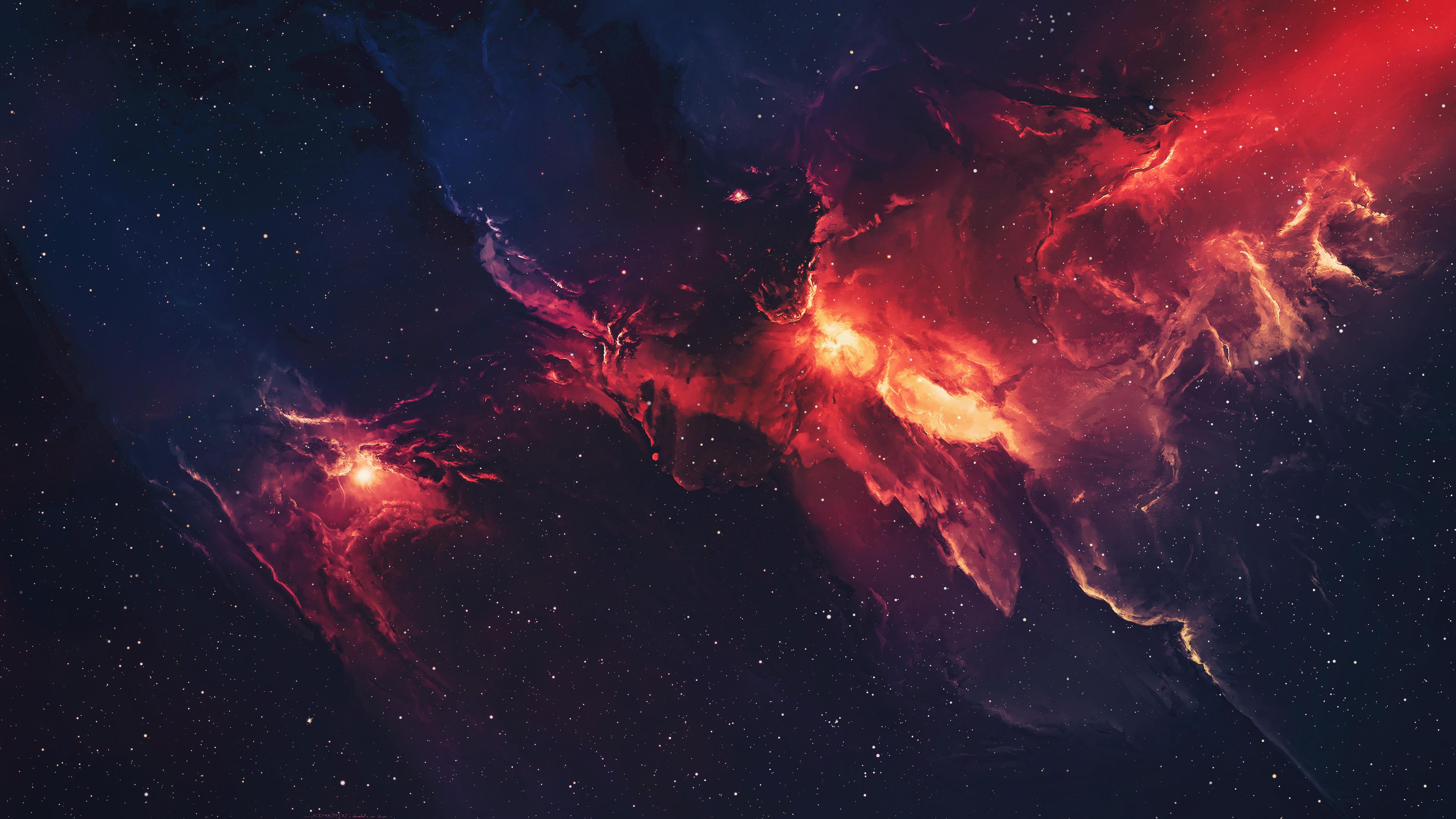 galaxy space stars universe nebula 4k qw
