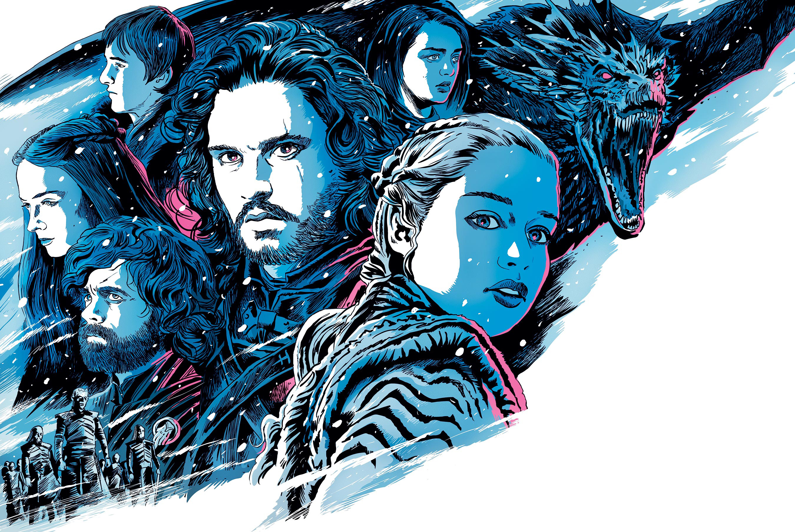 1400x900 Game Of Thrones Season 8 Illustration 1400x900 Resolution