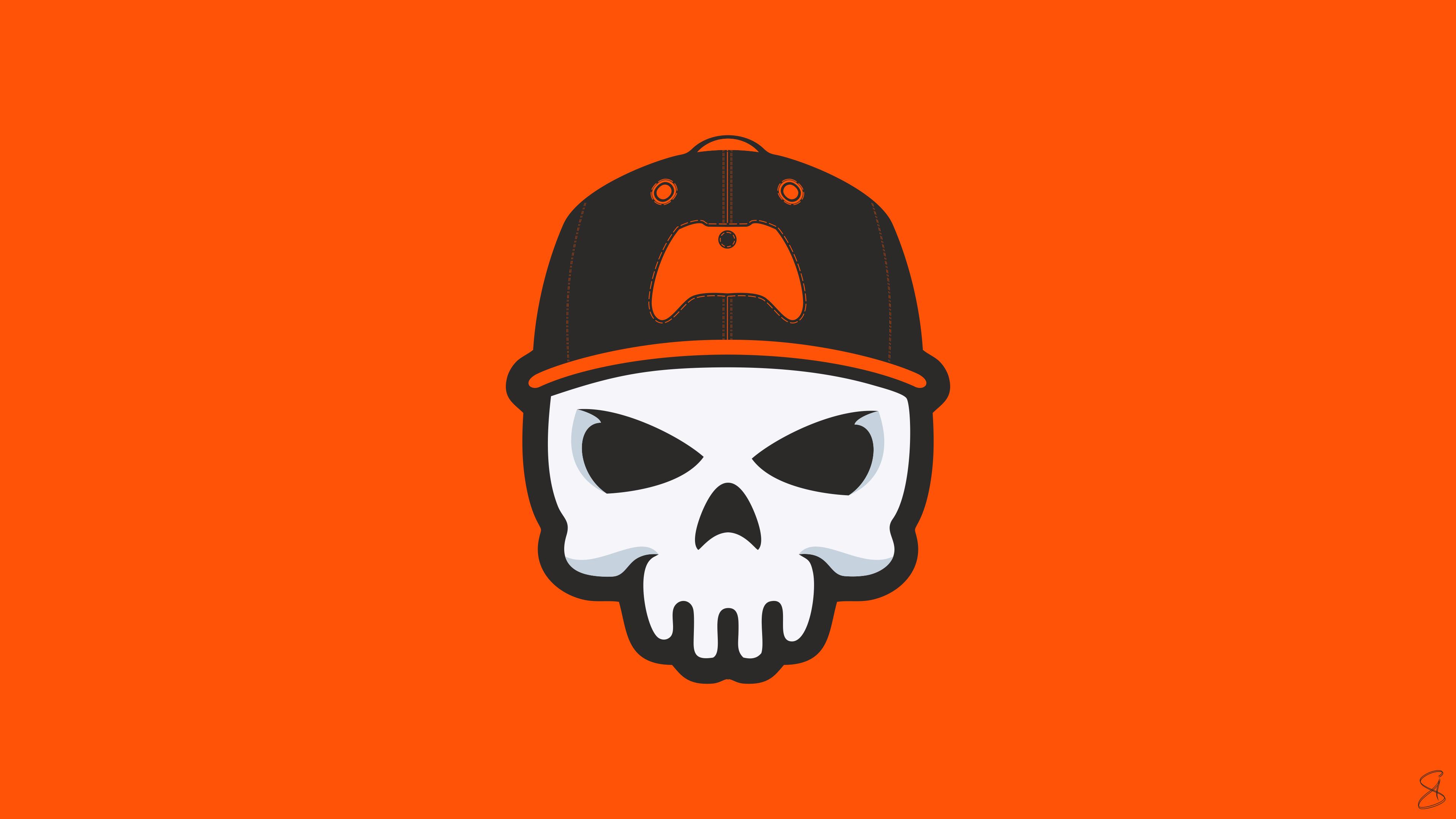 gamer skull minimal 4k