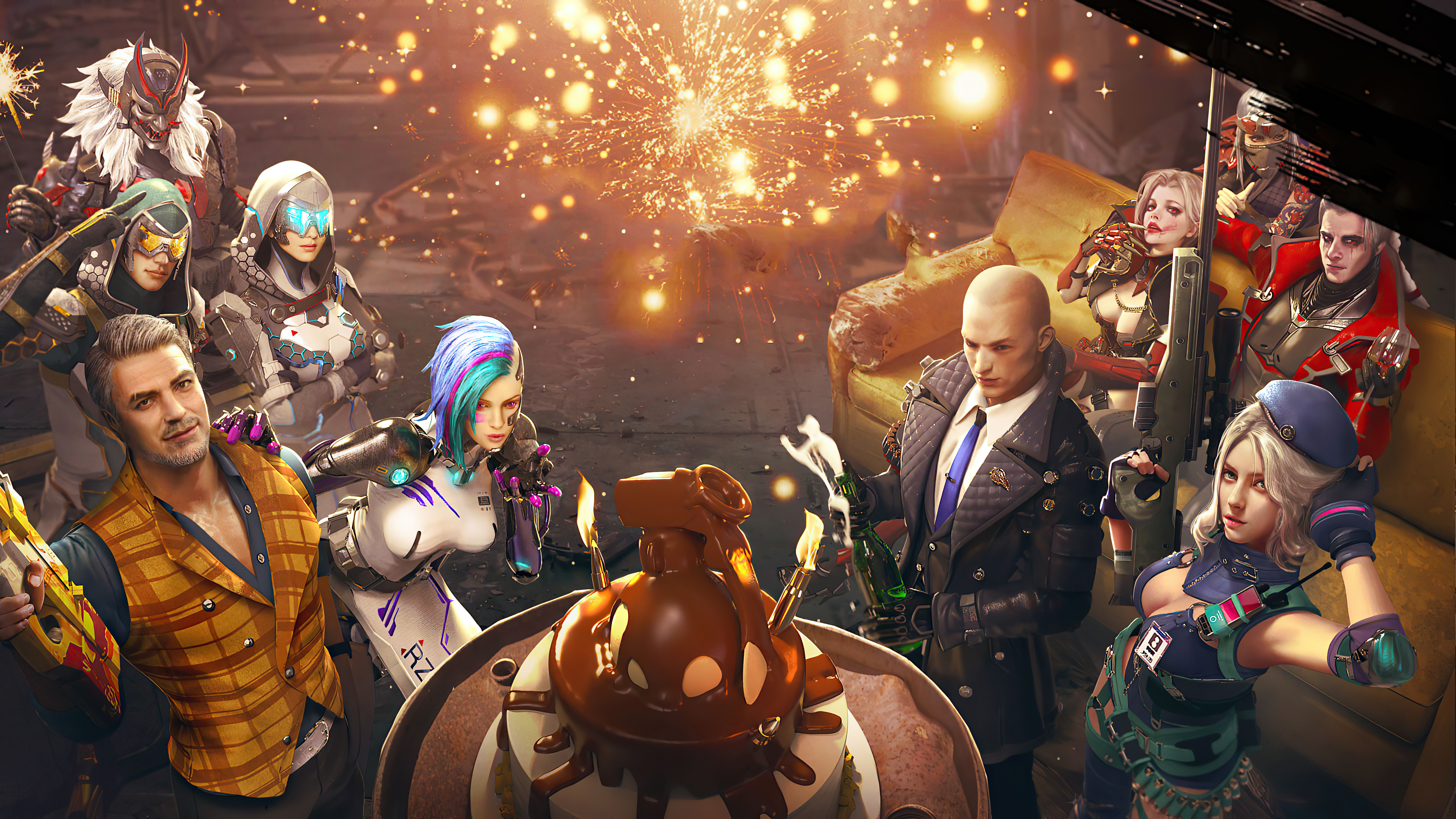 Garena Free Fire Anniversary Hd Games 4k Wallpapers Images Backgrounds Photos And Pictures