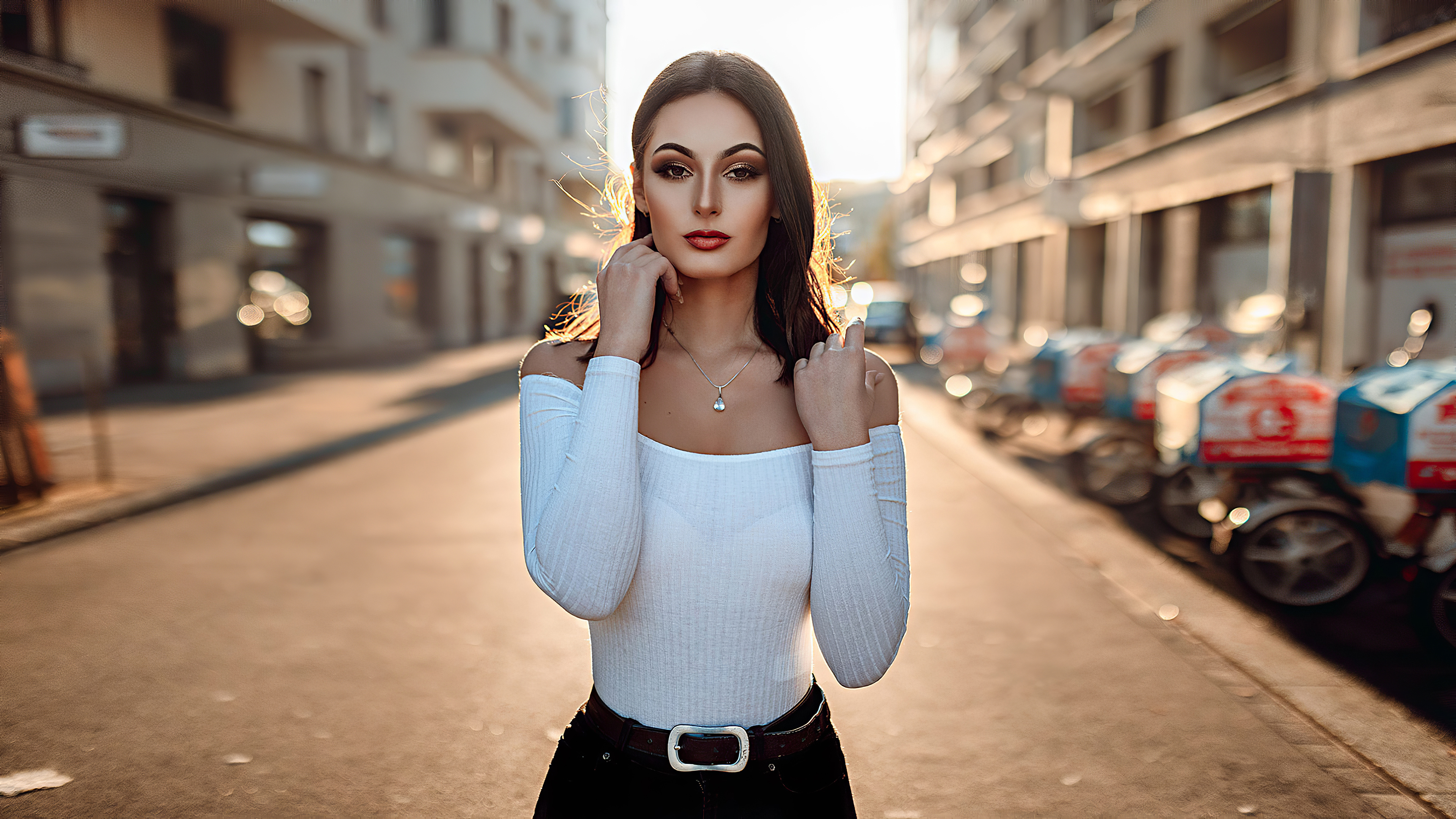 Girl Brunette Street Photography 4k Hd Girls 4k Wallpapers Images Backgrounds Photos And Pictures
