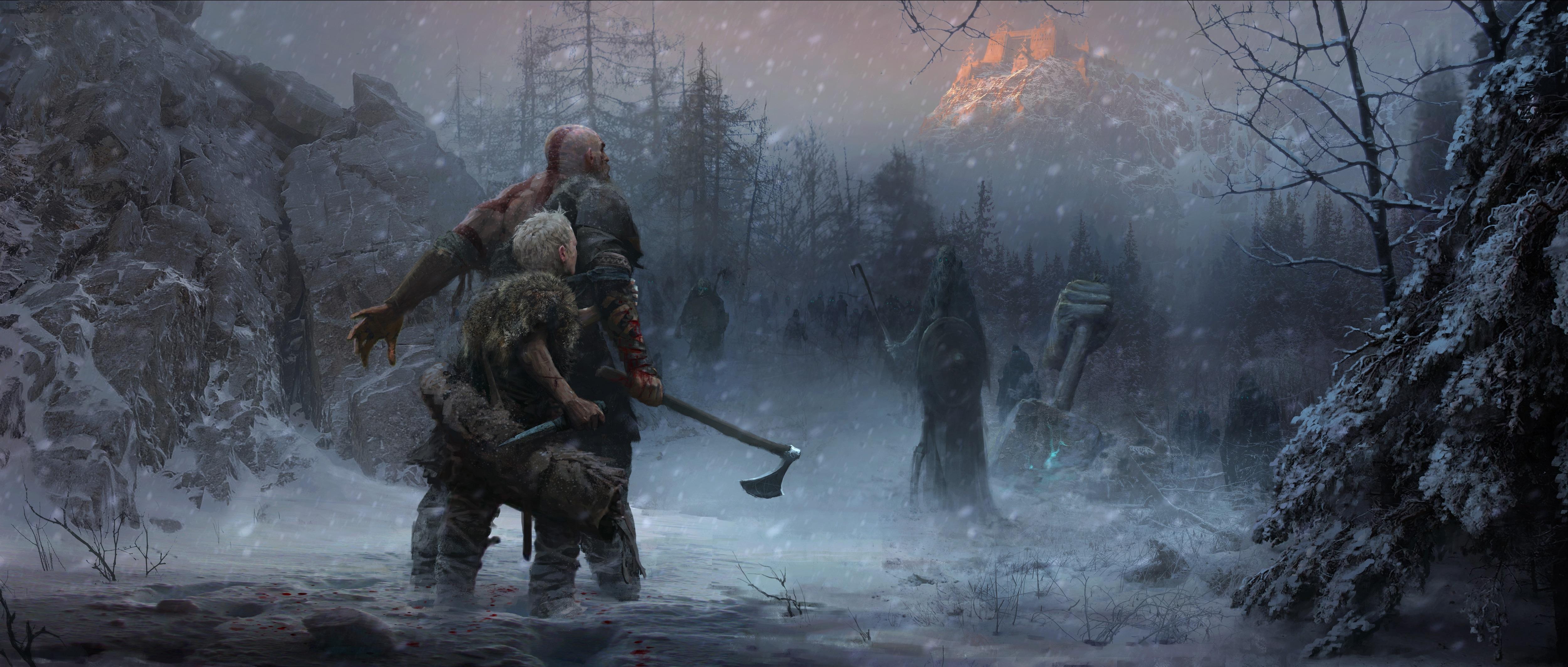 God Of War 4 Ps4 Concept Art 5k Hd Games 4k Wallpapers Images