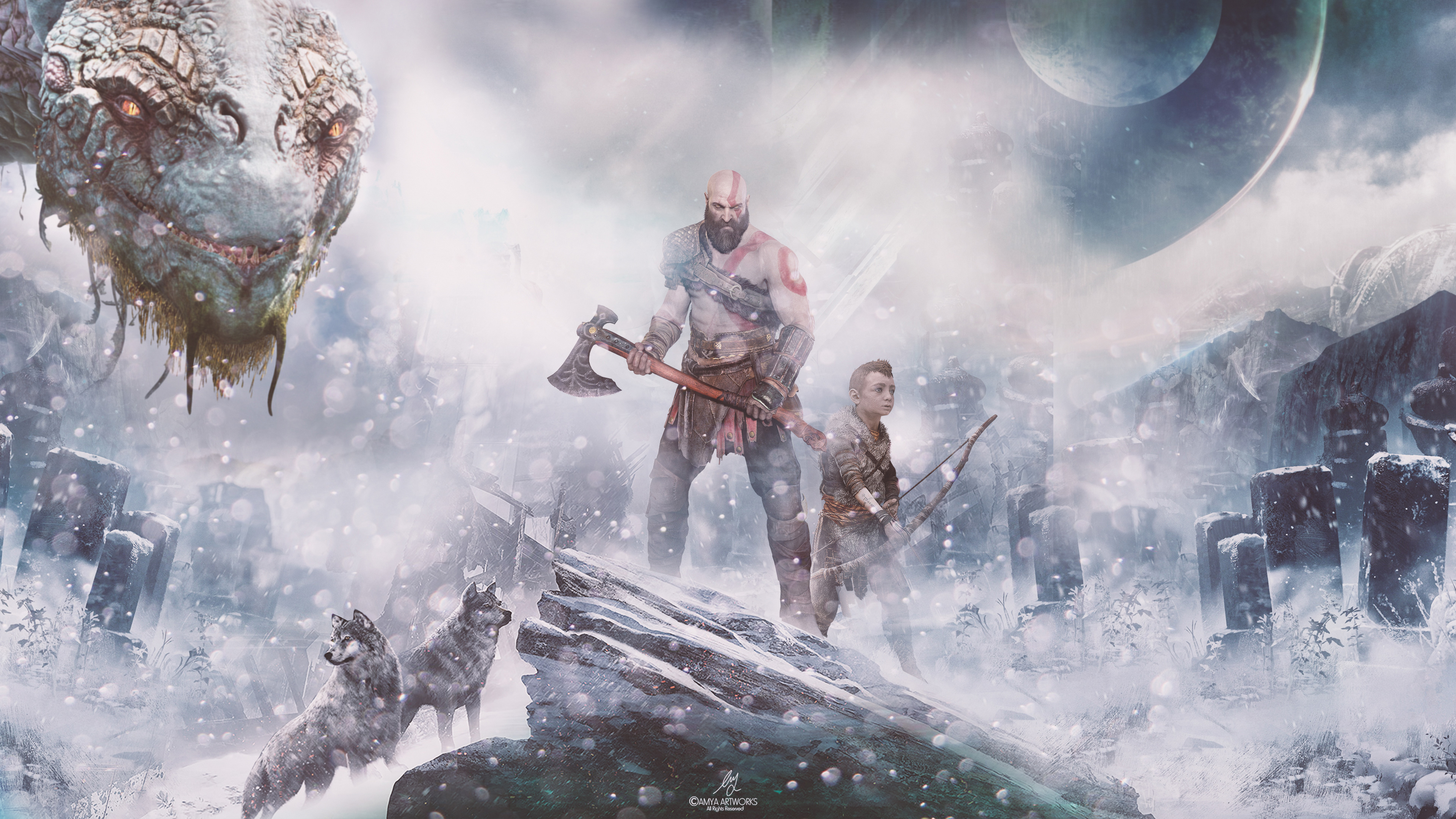 God Of War 4k Hd Games 4k Wallpapers Images Backgrounds
