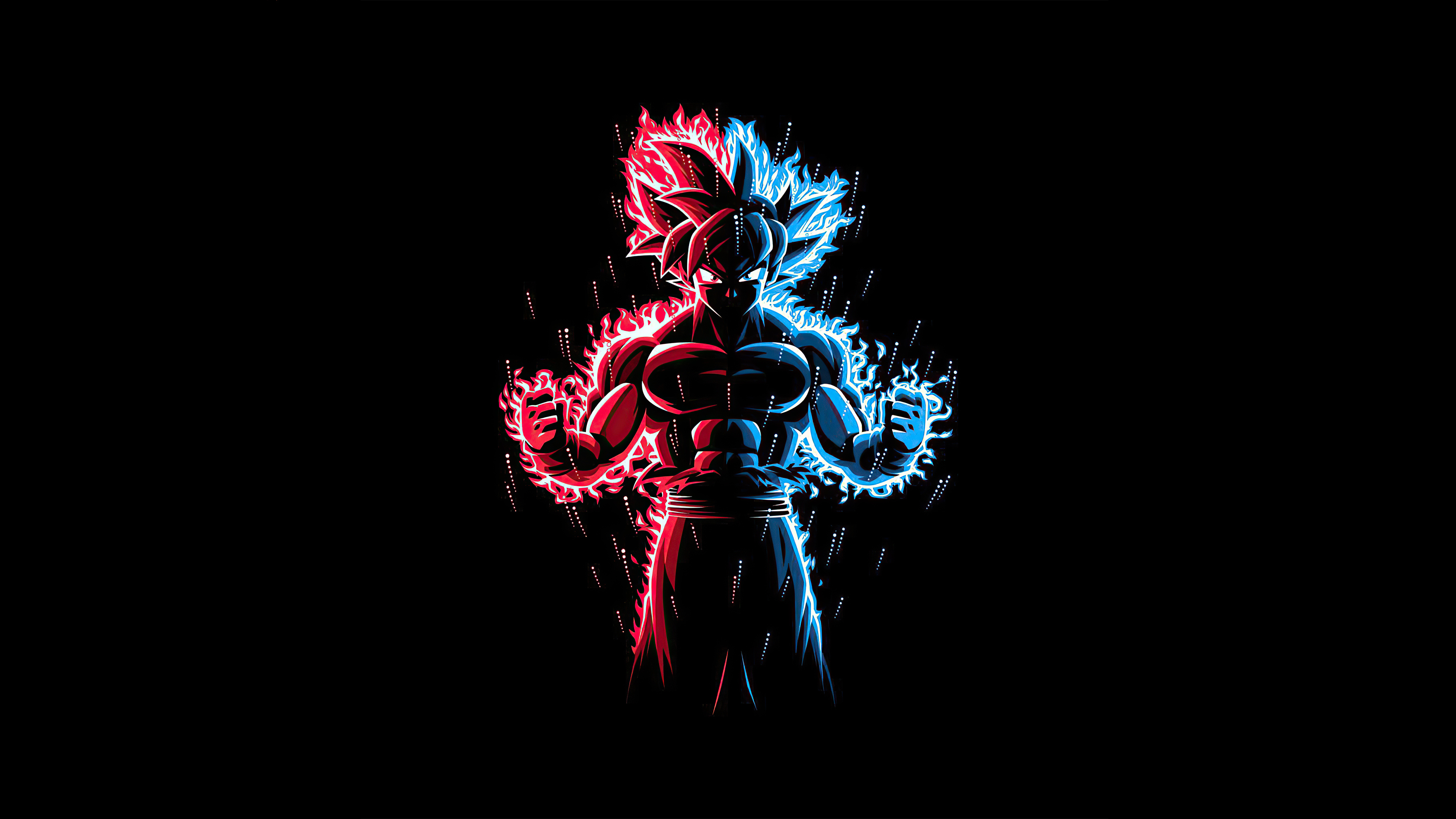 God Red Blue Goku Dragon Ball Z Hd Anime 4k Wallpapers Images Backgrounds Photos And Pictures
