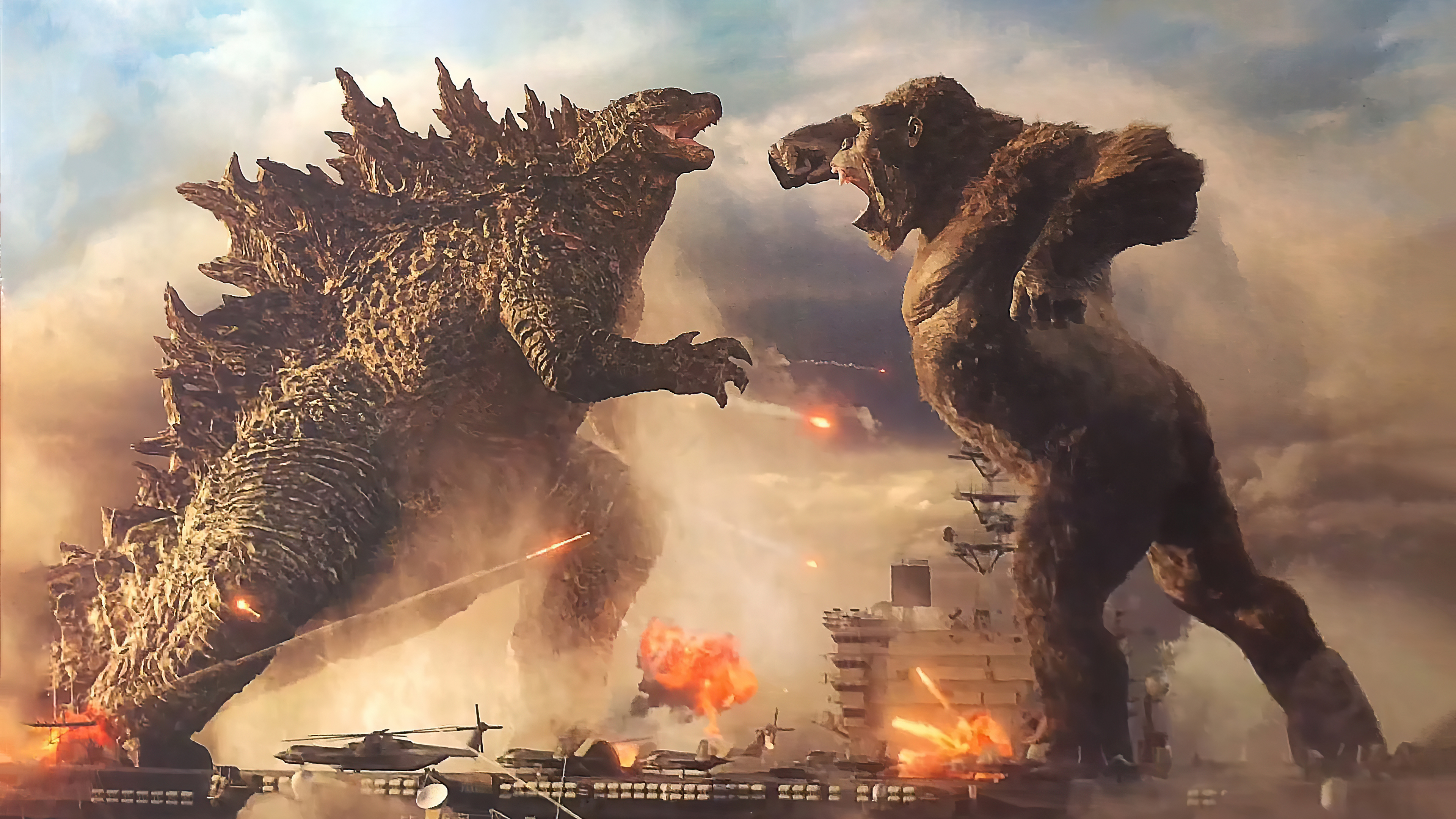 1366x768 Godzilla Vs King Kong 1366x768 Resolution HD 4k Wallpapers, Images, Backgrounds, Photos and Pictures