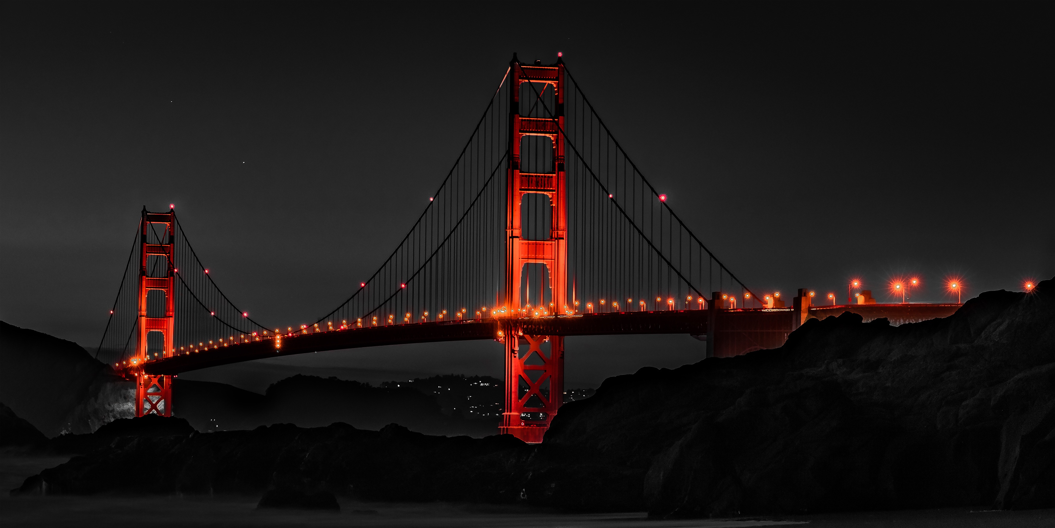 Golden Gate Bridge San Francisco Night Hd World 4k Wallpapers Images Backgrounds Photos And Pictures